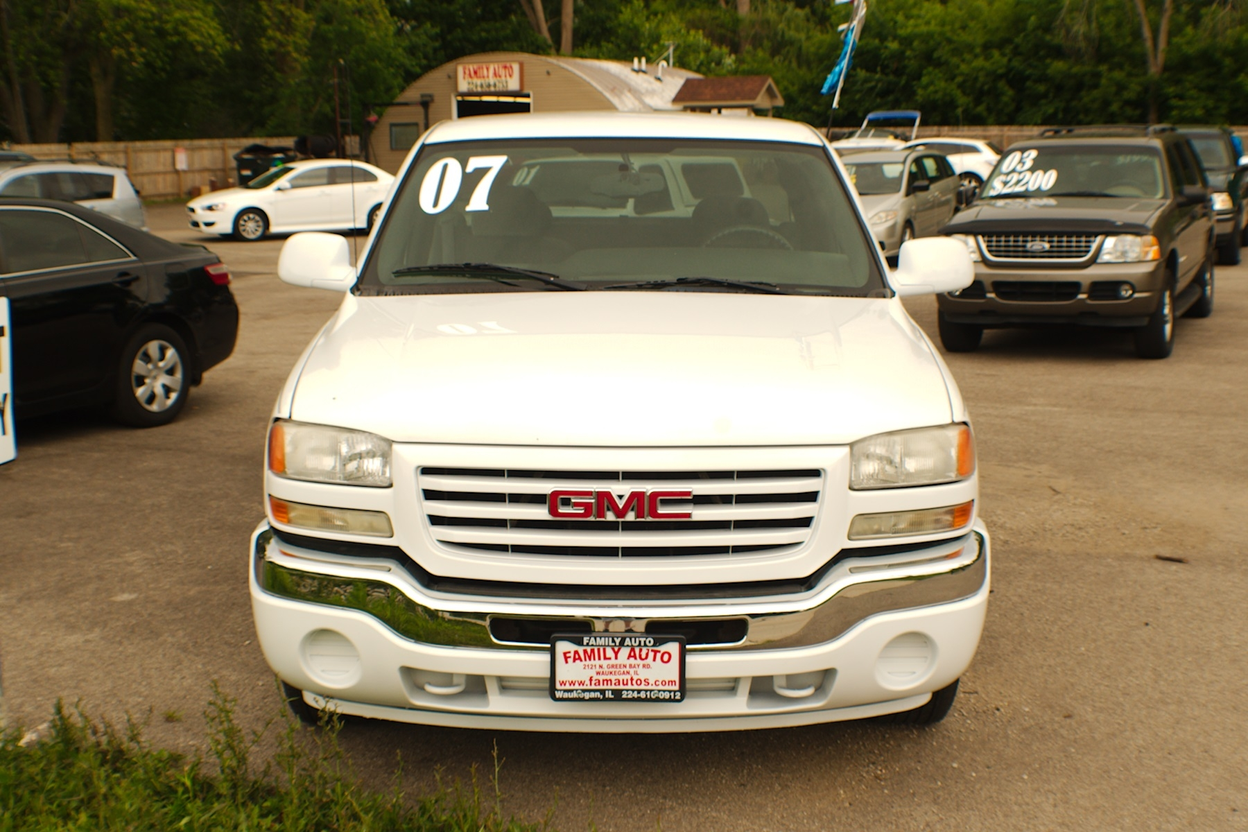 2007 GMC Sierra White Used 4x2 Ext Cab Used Truck Sale Gurnee Kenosha Mchenry Chicago Illinois