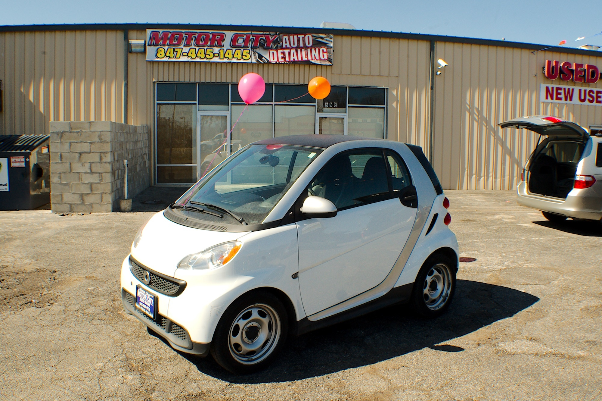 2013 smart car white coupe used car sale antioch zion waukegan lake county illinois