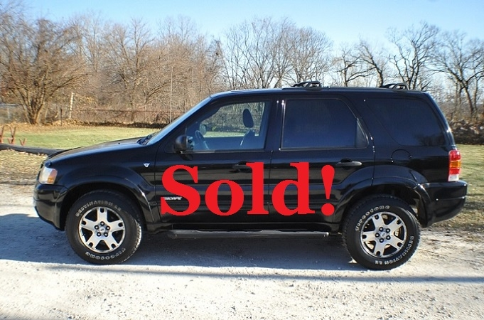 2002 Ford Escape XLT Used 4x4 Black SUV Sale Antioch Zion Waukegan Gurnee