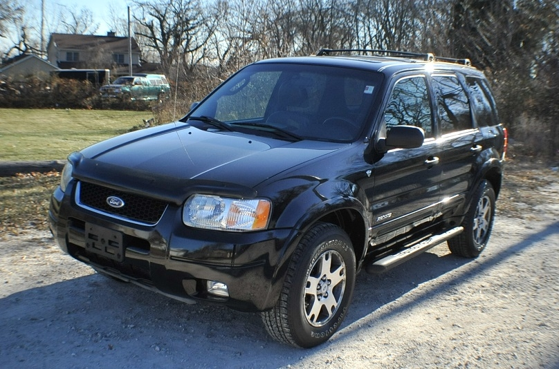 2002 Ford Escape XLT Used 4x4 Black SUV Sale Beach Park Buffalo Grove Deerfield Fox Lake