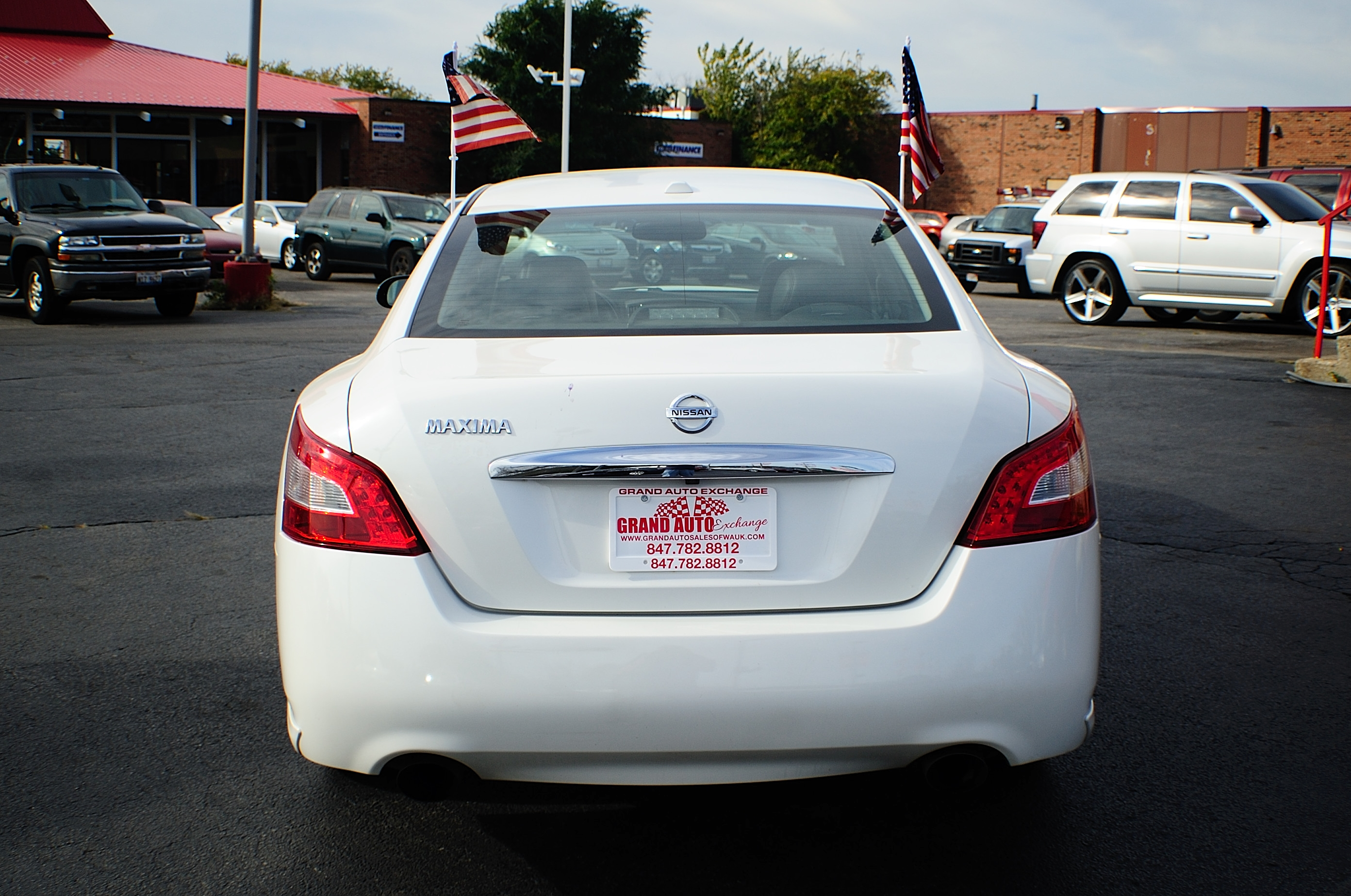2009 Nissan Maxima White Navigation Sedan Used Car Sale Buffalo Grove Deerfield Fox Lake