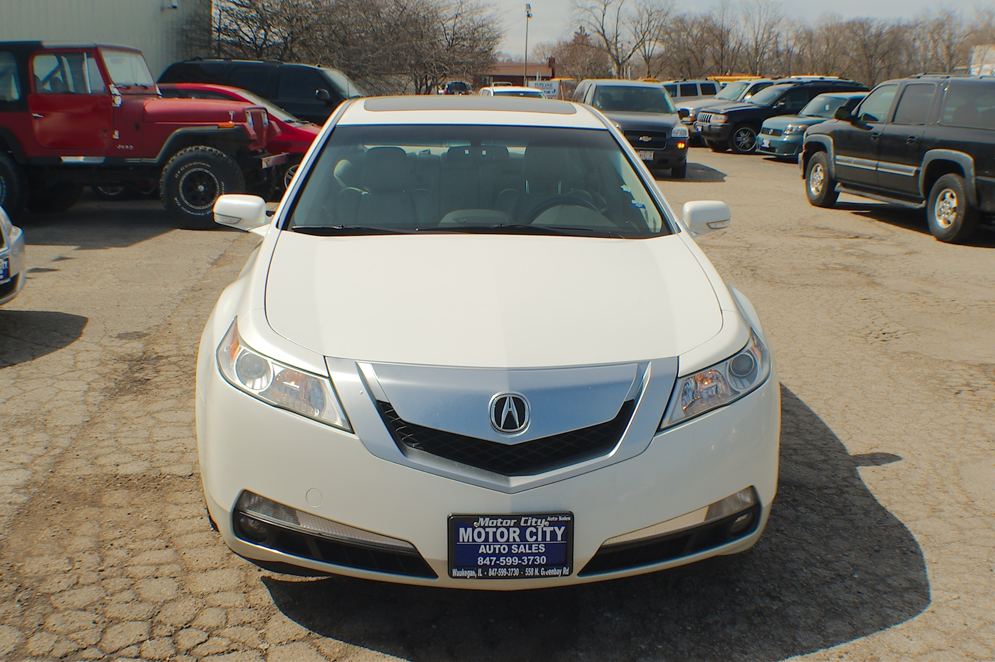 2010 Acura TL Navigation White Sedan Sale Gurnee Kenosha Mchenry Chicago Illinois