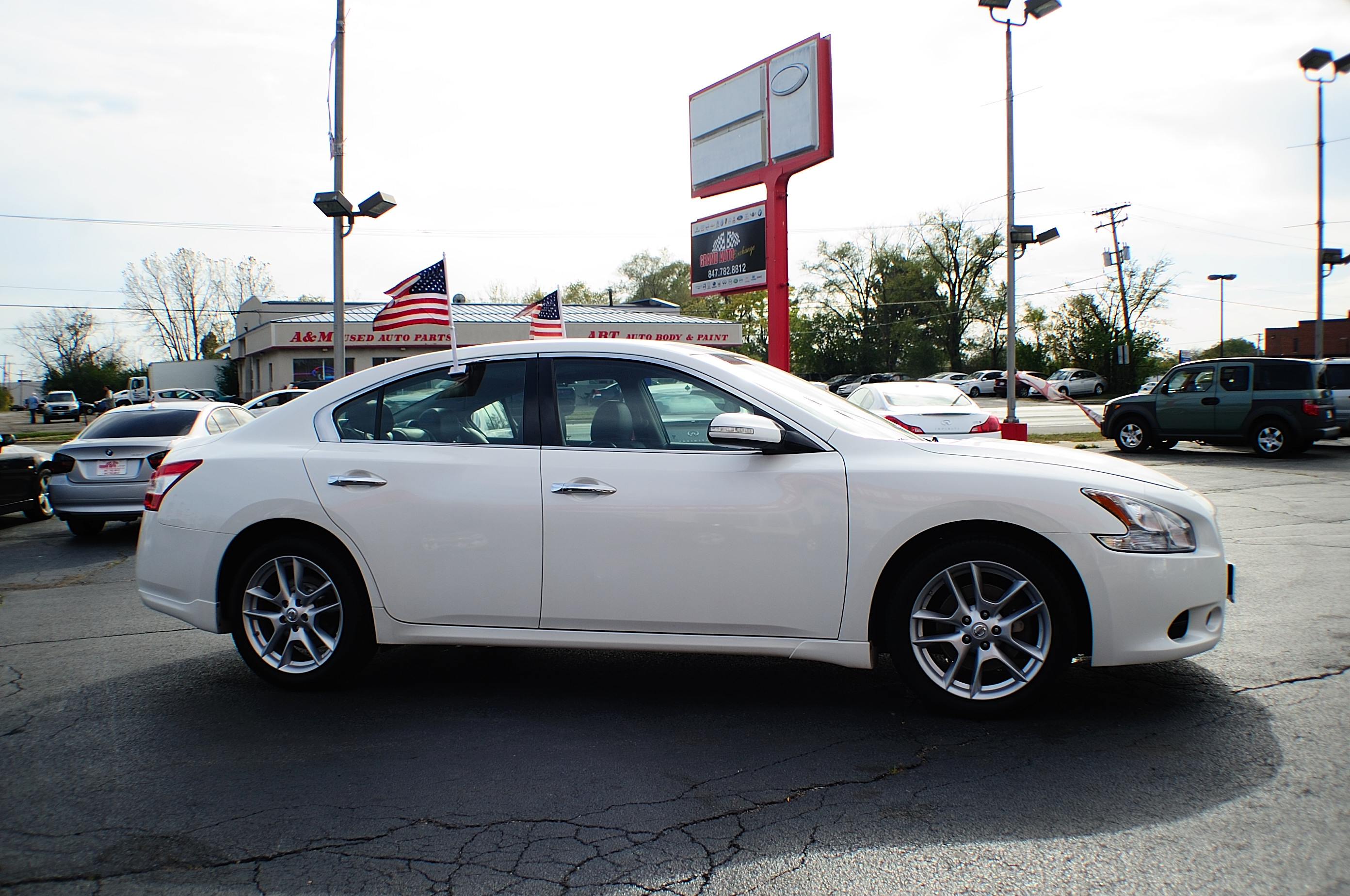 2009 Nissan Maxima White Navigation Sedan Used Car Sale Bannockburn Barrington Beach Park