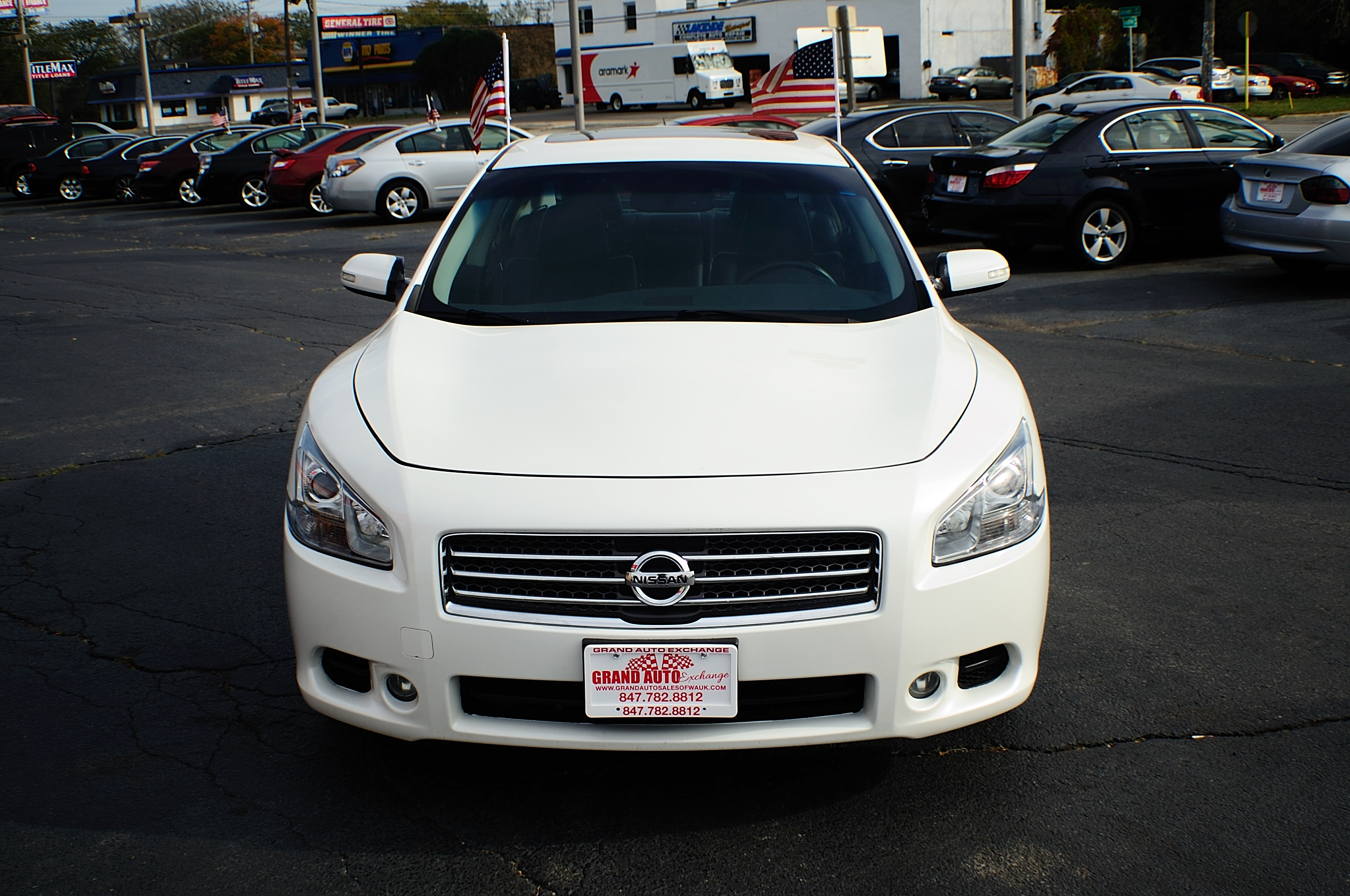 2009 Nissan Maxima White Navigation Sedan Used Car Sale Gurnee Kenosha Mchenry