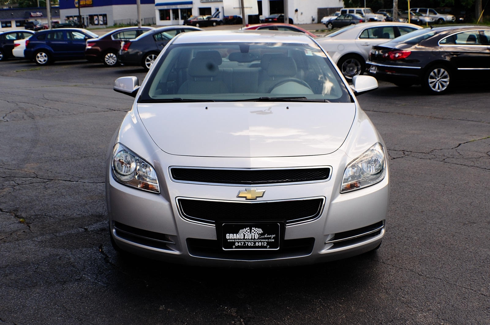 2009 Chevrolet Malibu LT Silver Sedan Used Car Sale Gurnee Kenosha Mchenry Chicago Illinois