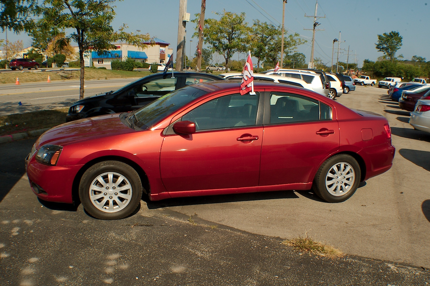 2011 Mitsubishi Galant Red Sedan Used Car Sale Antioch Zion Waukegan Lake County Illinois