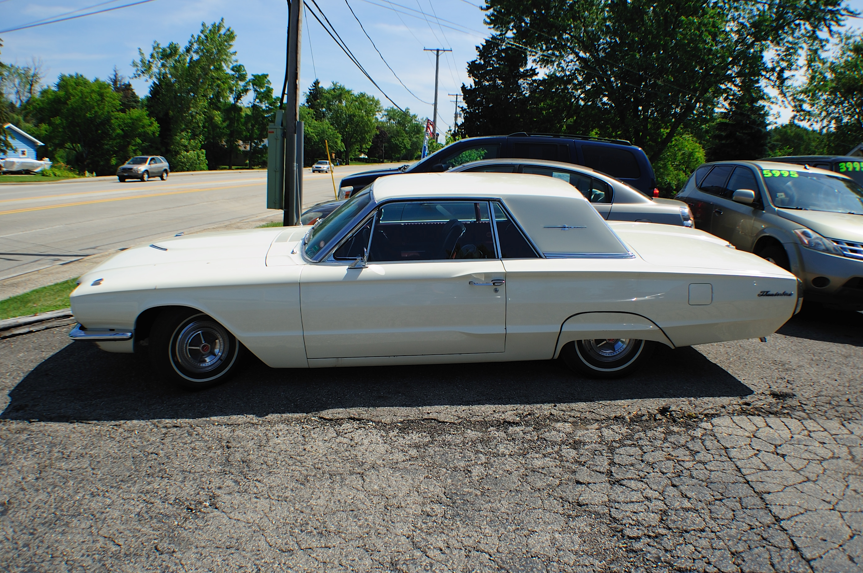 1966 Ford Thunderbird White Classic Sport Coupe used Car Sale Antioch Grayslake