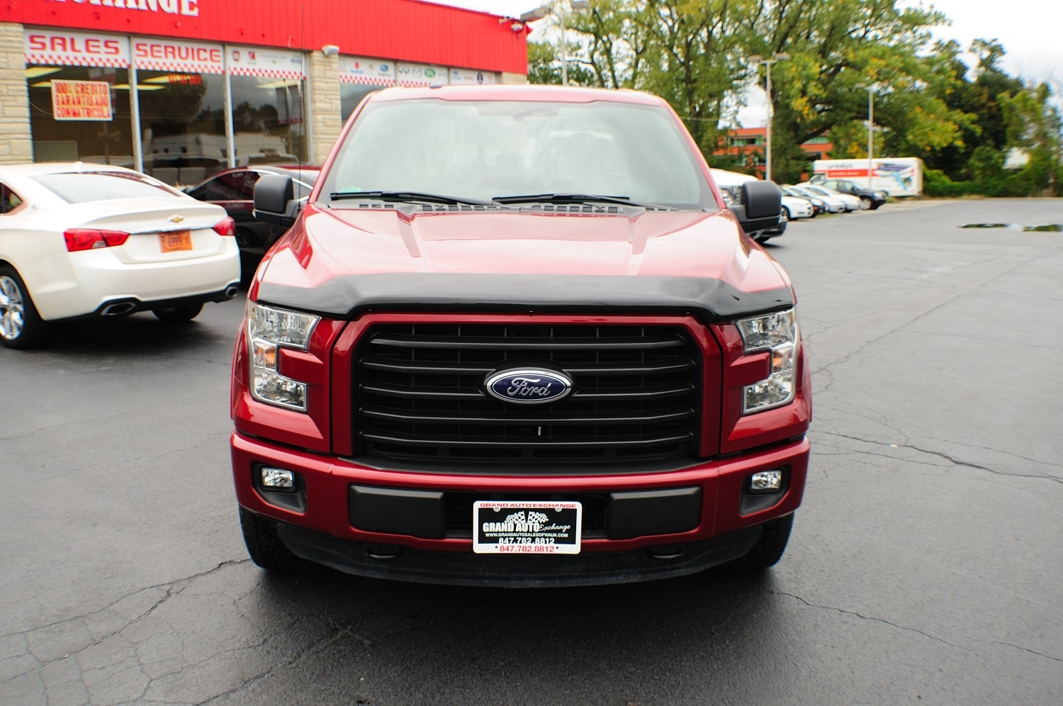 2015 Ford F150 XLT Red Used 4x4 Truck Sale Gurnee Kenosha Mchenry Chicago Illinois