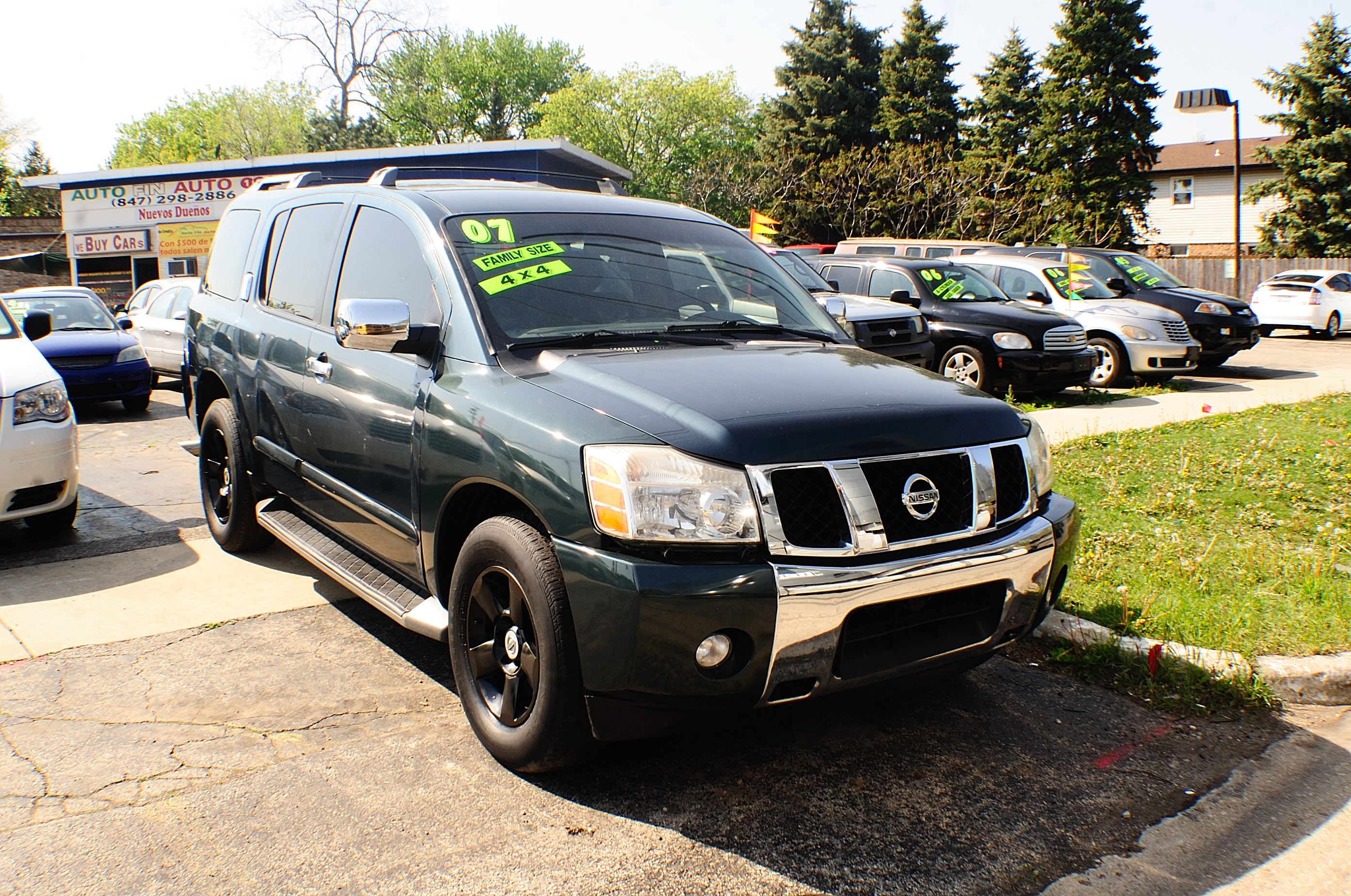 2007 Nissan Armada SE Green Used SUV car sale Buffalo Grove Bollingbrook Carol Stream