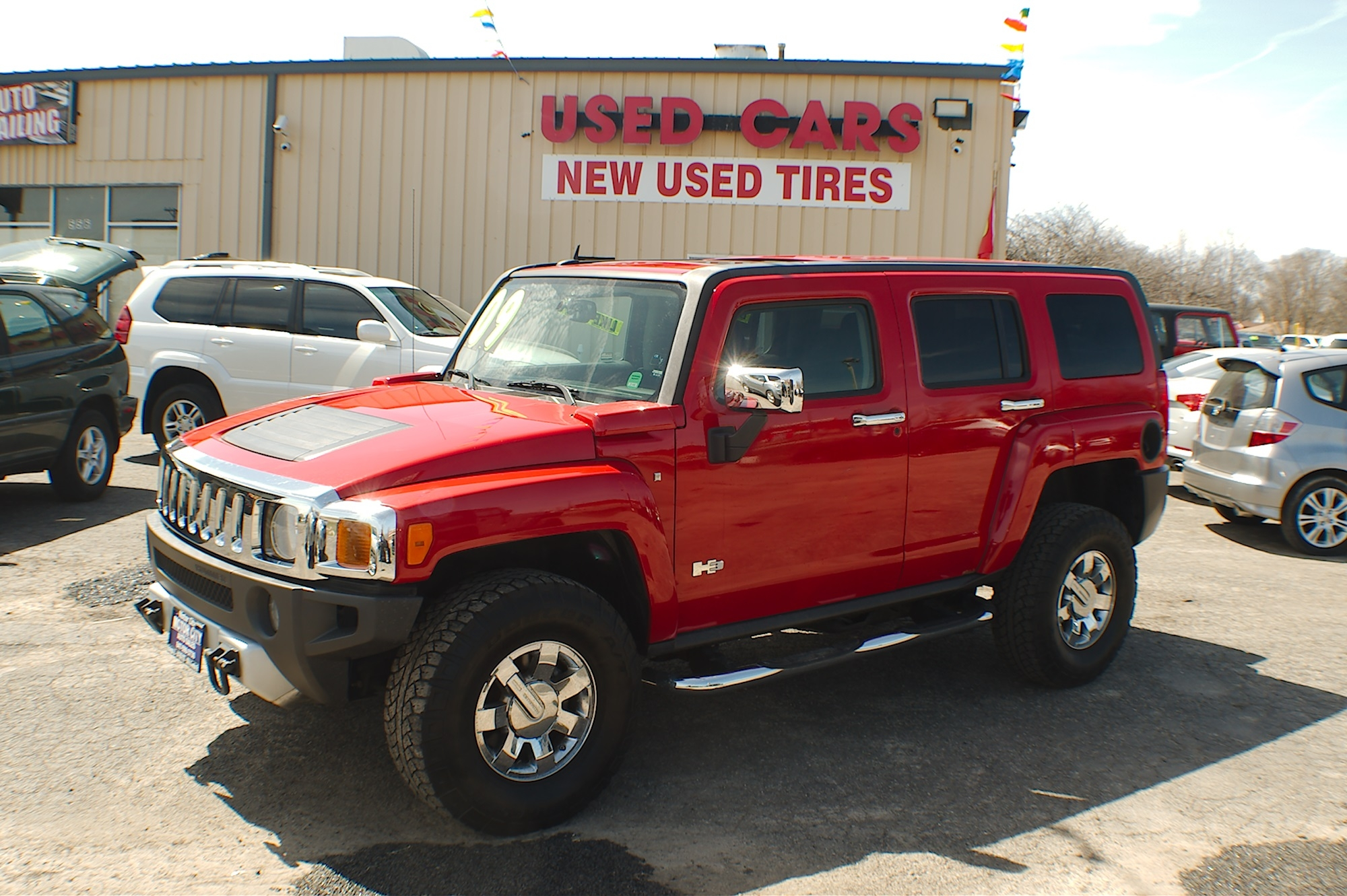 2009 Hummer H3 Red 4x4 Used SUV sale Antioch Zion Waukegan Lake County Illinois
