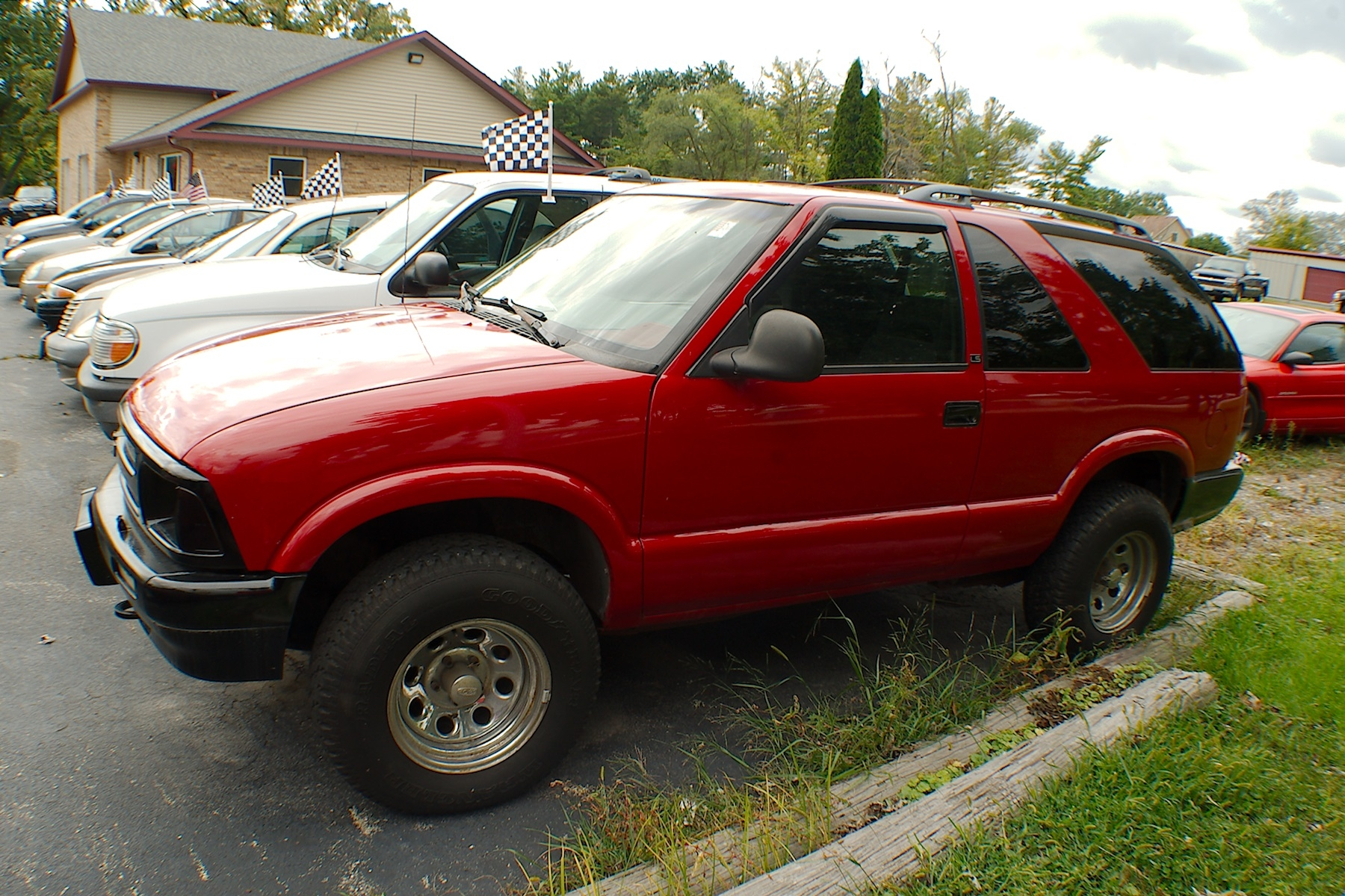 1996 Chevrolet Blazer LS 2Dr Red 4x4 SUV Sale Antioch Zion Waukegan Lake County Illinois