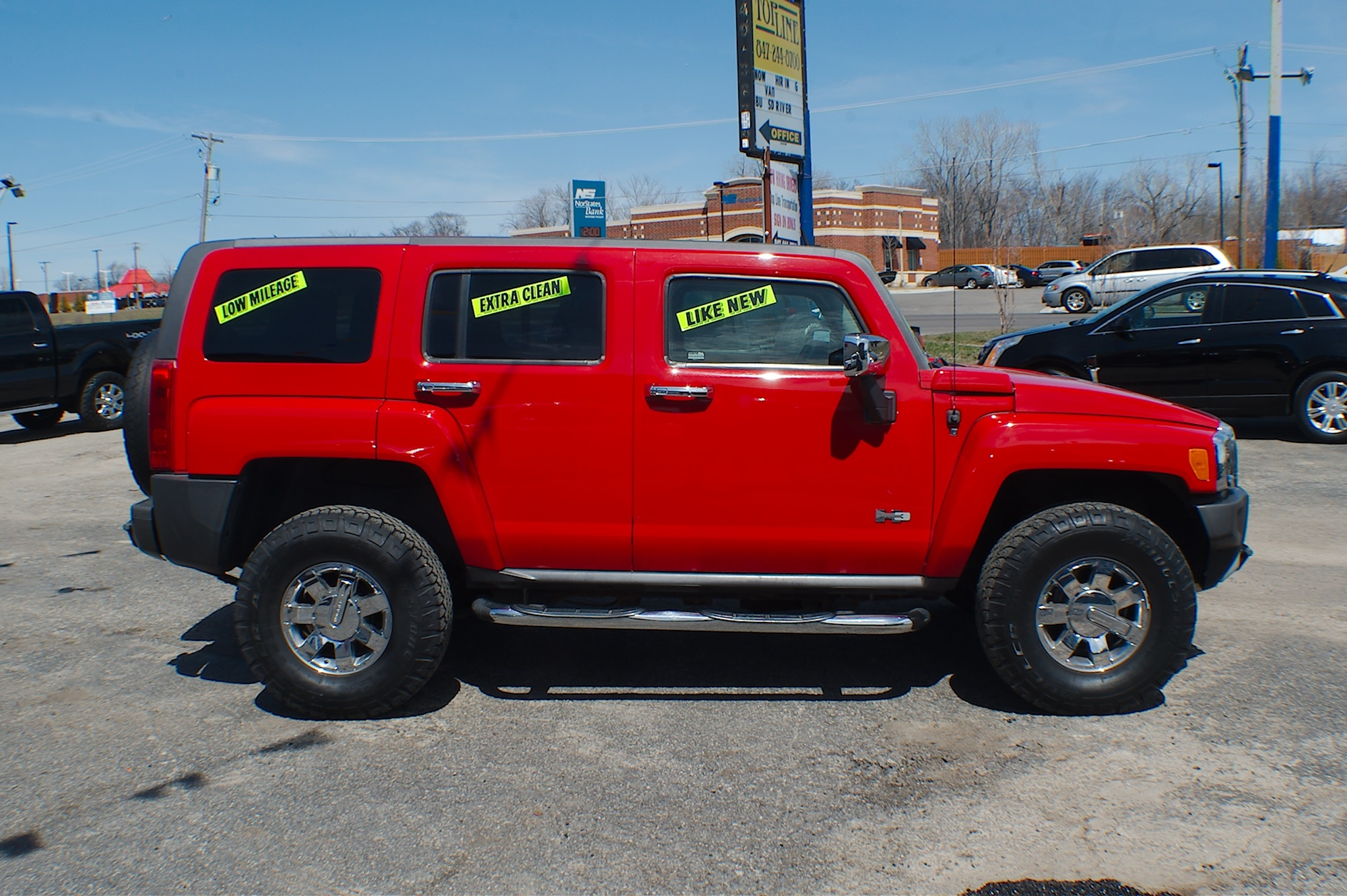 2009 Hummer H3 Red 4x4 Used SUV sale Bannockburn Barrington Beach Park