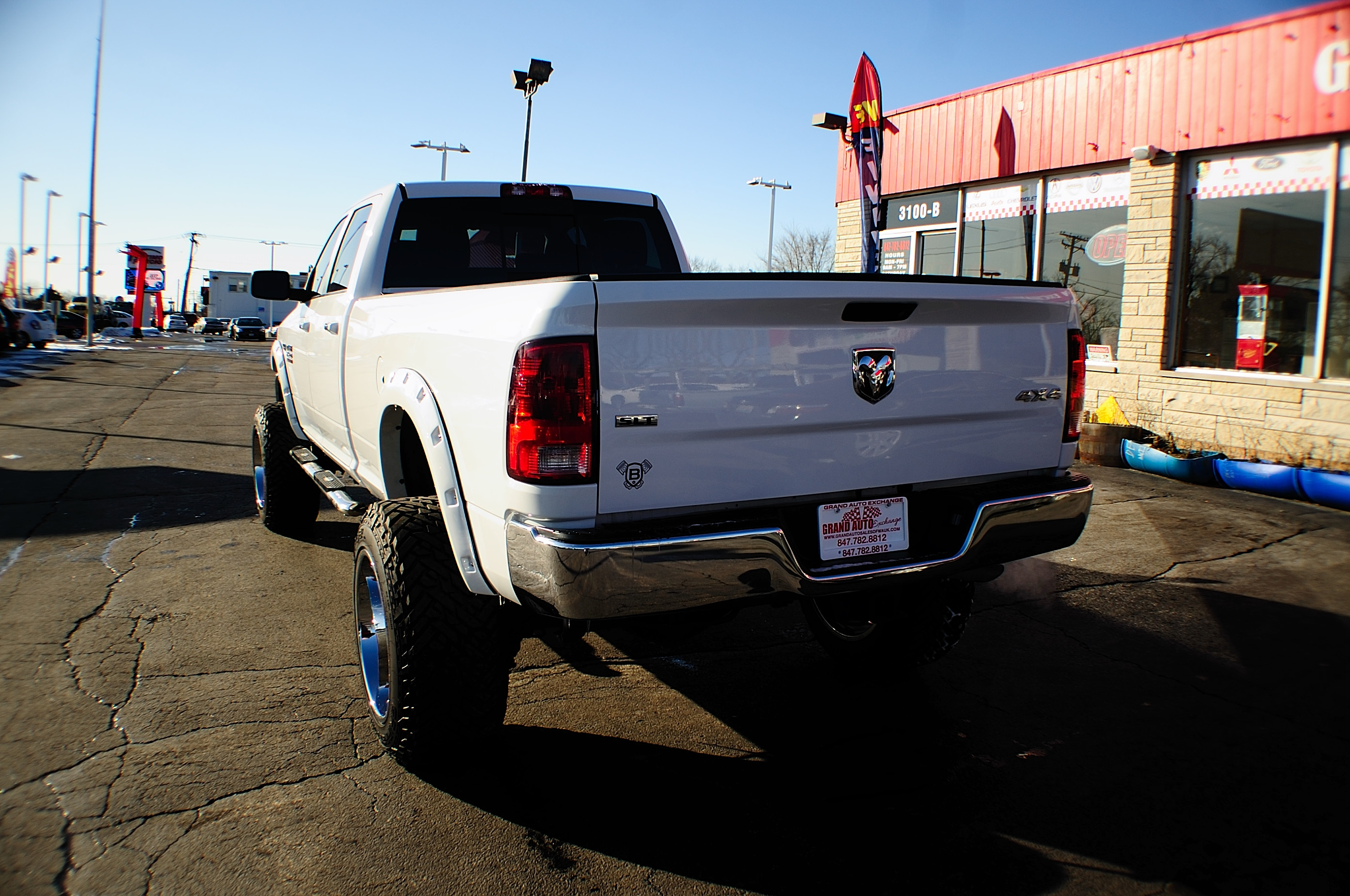 2014 Dodge Ram 2500 HD White 4x4 Monster Truck Sale Riverwoods Tower Lakes