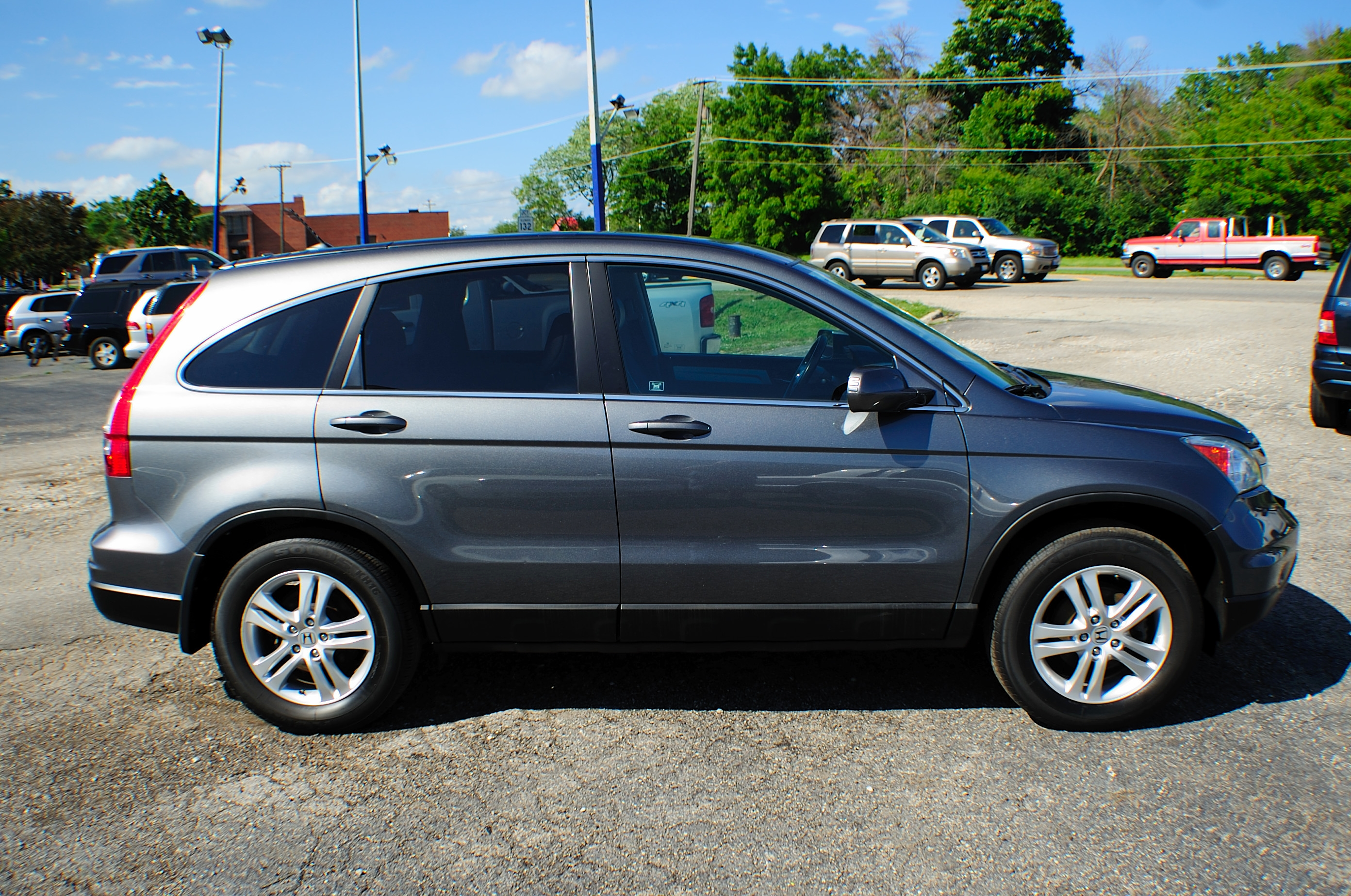 Honda Dealers Illinois >> 2010 Honda CRV Gray Metallic 4x4 SUV Navigation Used Car Sale