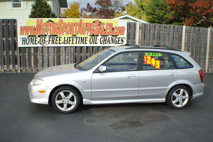 2003 Mazda Protege 5 Silver Manual Sedan Car Sale Waukegan Gurnee Kenosha