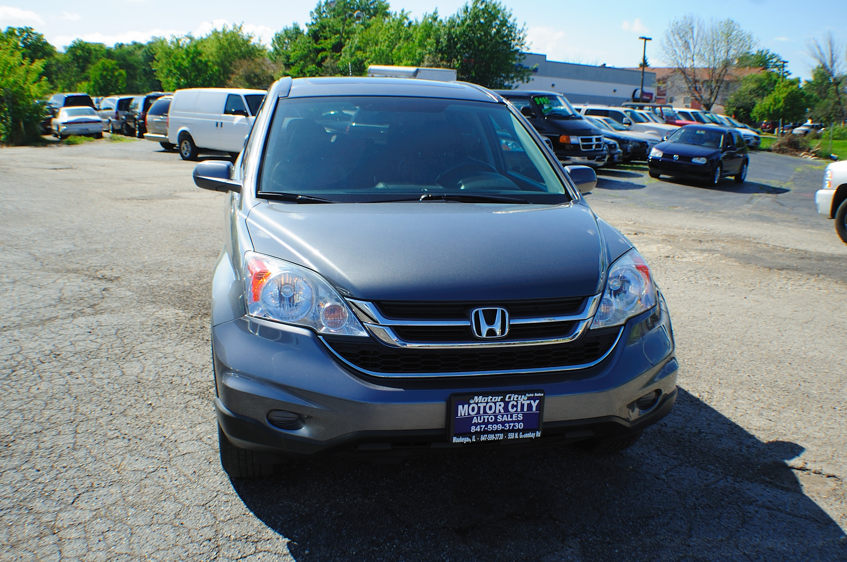 2010 Honda CRV Gray Metallic 4x4 SUV Navigation Used Car Sale Libertyville Beach Park