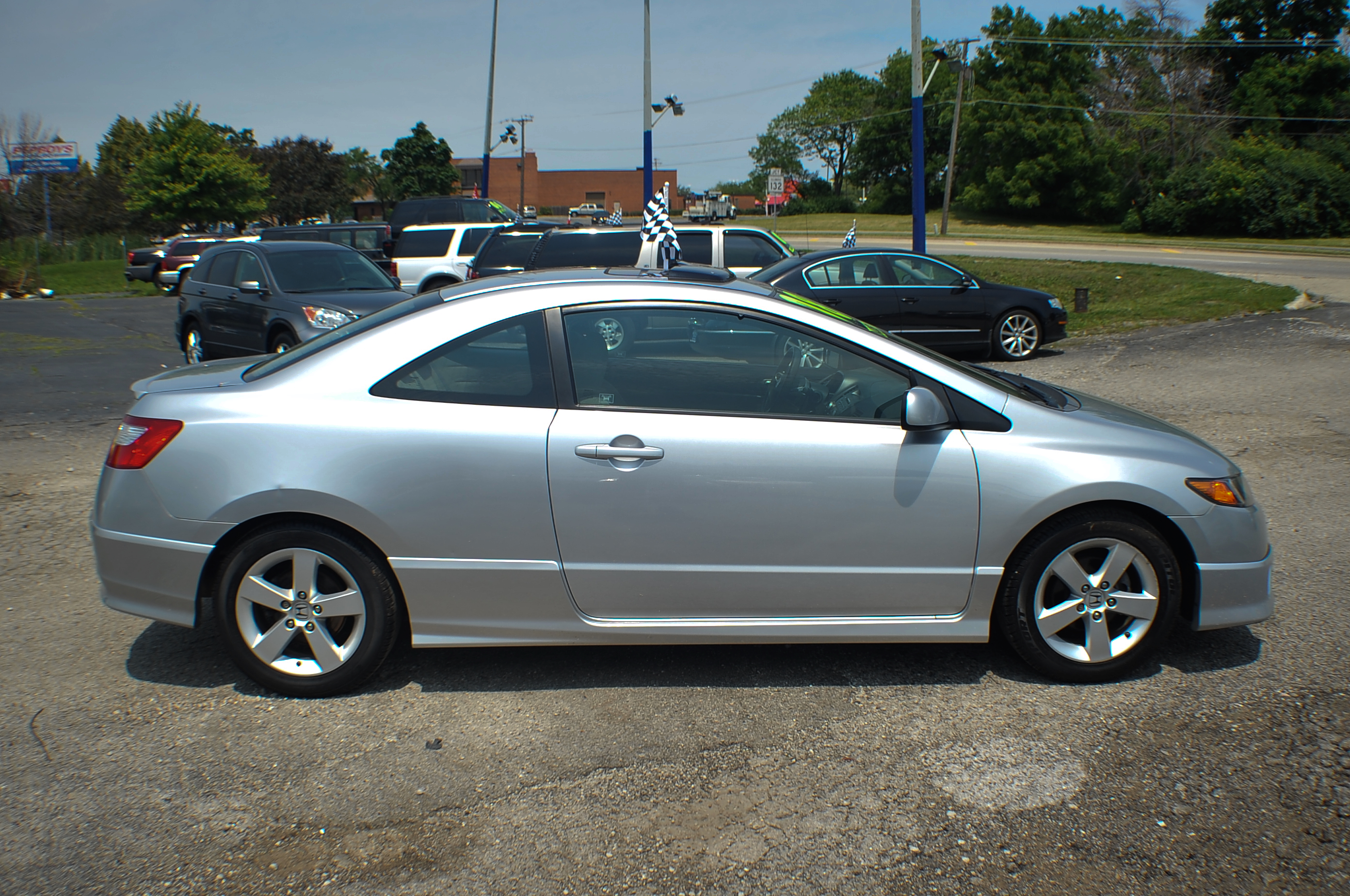 2008 honda civic silver sport coupe used car sale. Black Bedroom Furniture Sets. Home Design Ideas
