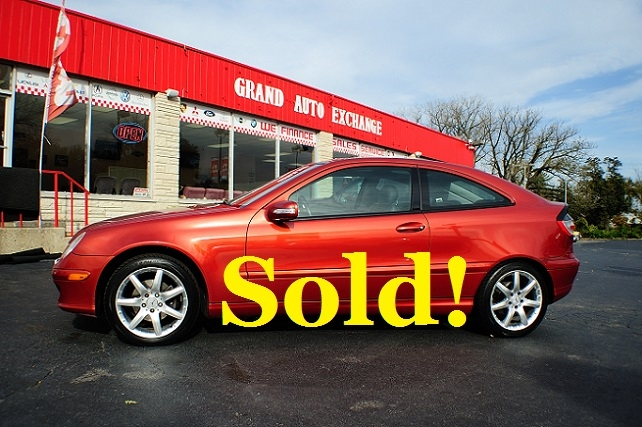2005 Mercedes Benz C230K Red Used Sport Coupe Sale Antioch Zion Waukegan
