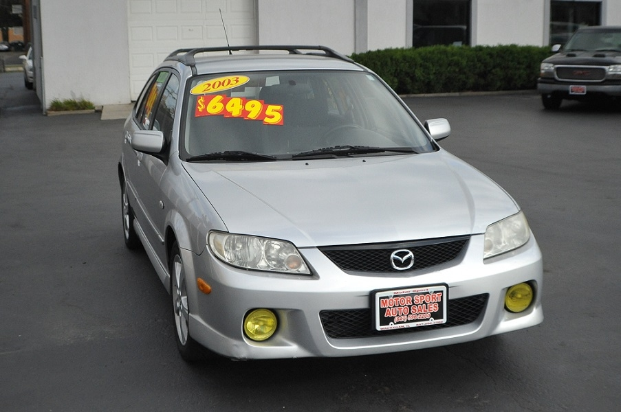2003 Mazda Protege 5 Silver Manual Sedan Car Sale Beach Park Buffalo Grove Deerfield