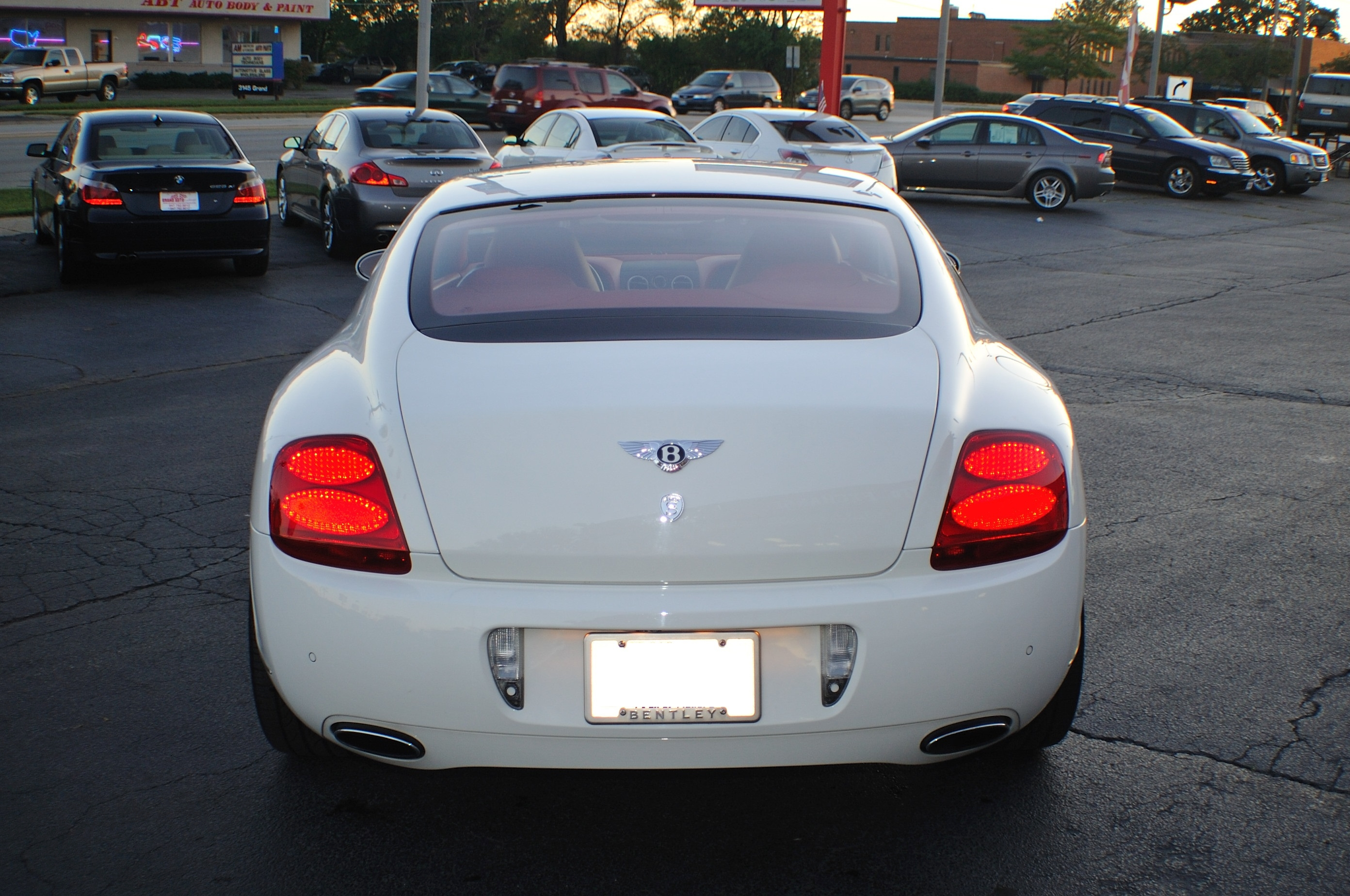 2004 Bentley Continental GT White Turbo Coupe Sale Fox River Grove Grayslake Volo
