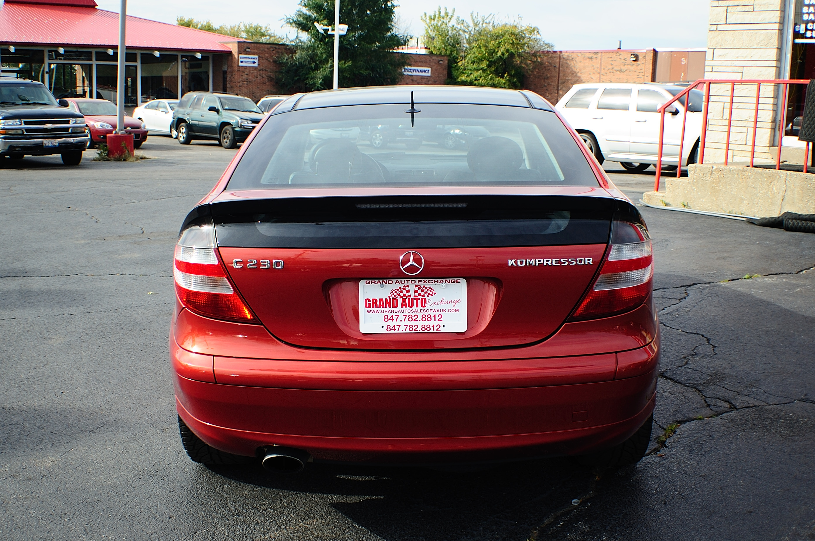 2005 Mercedes Benz C230K Red Used Sport Coupe Sale Buffalo Grove Deerfield Fox Lake