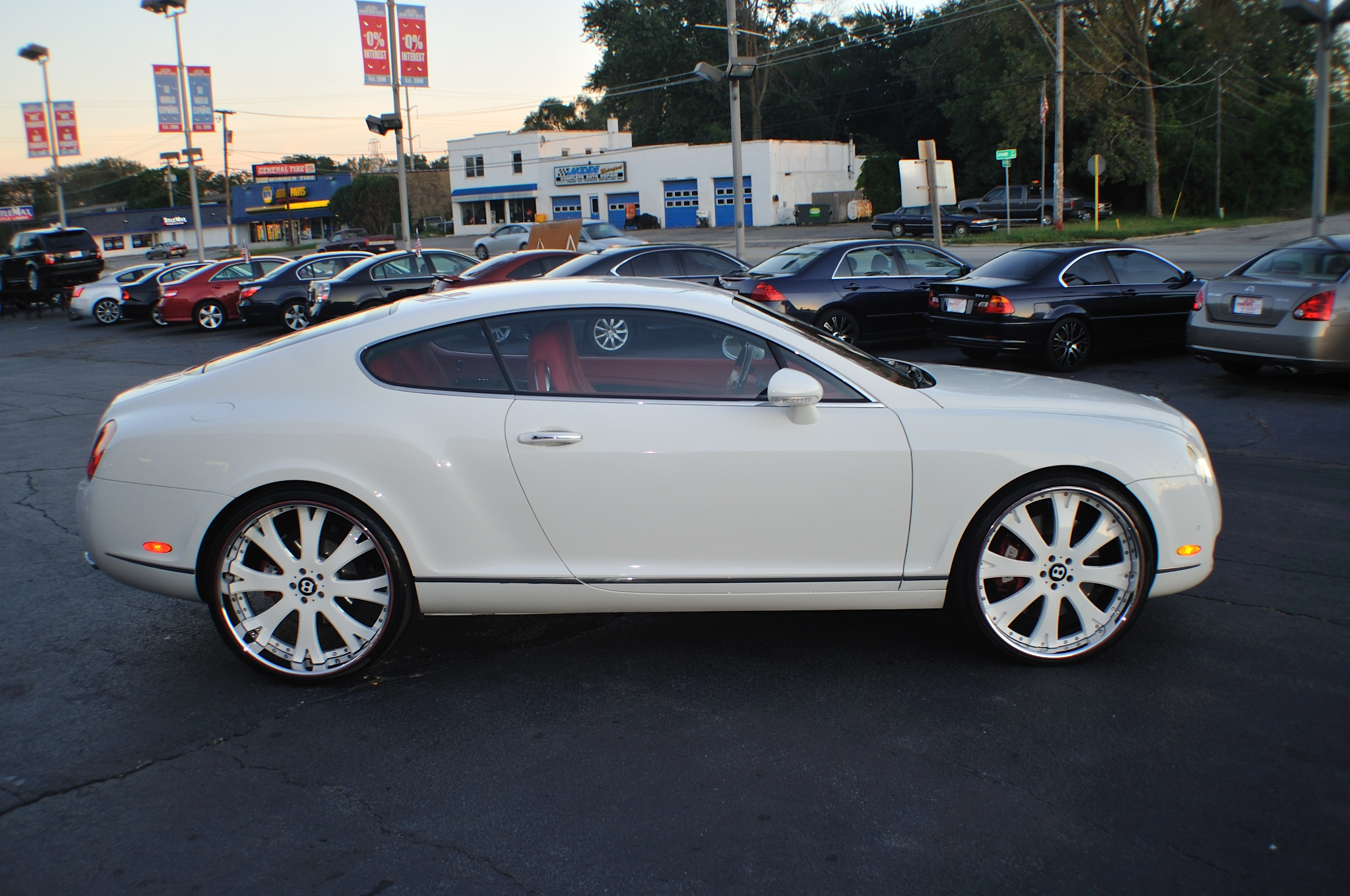 2004 Bentley Continental GT White Turbo Coupe Sale Buffalo Grove Deerfield Fox Lake