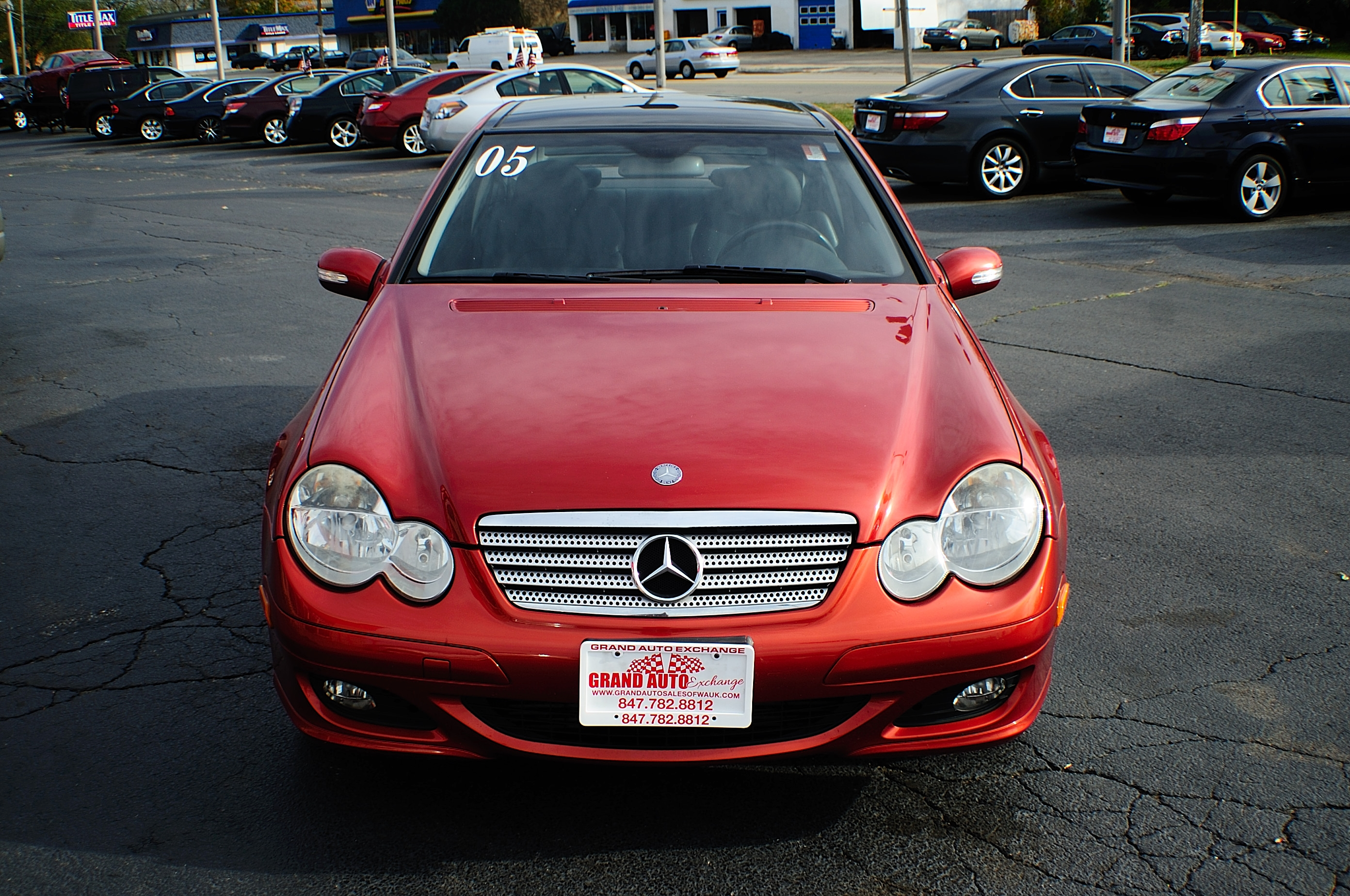 2005 Mercedes Benz C230K Red Used Sport Coupe Sale Gurnee Kenosha Mchenry