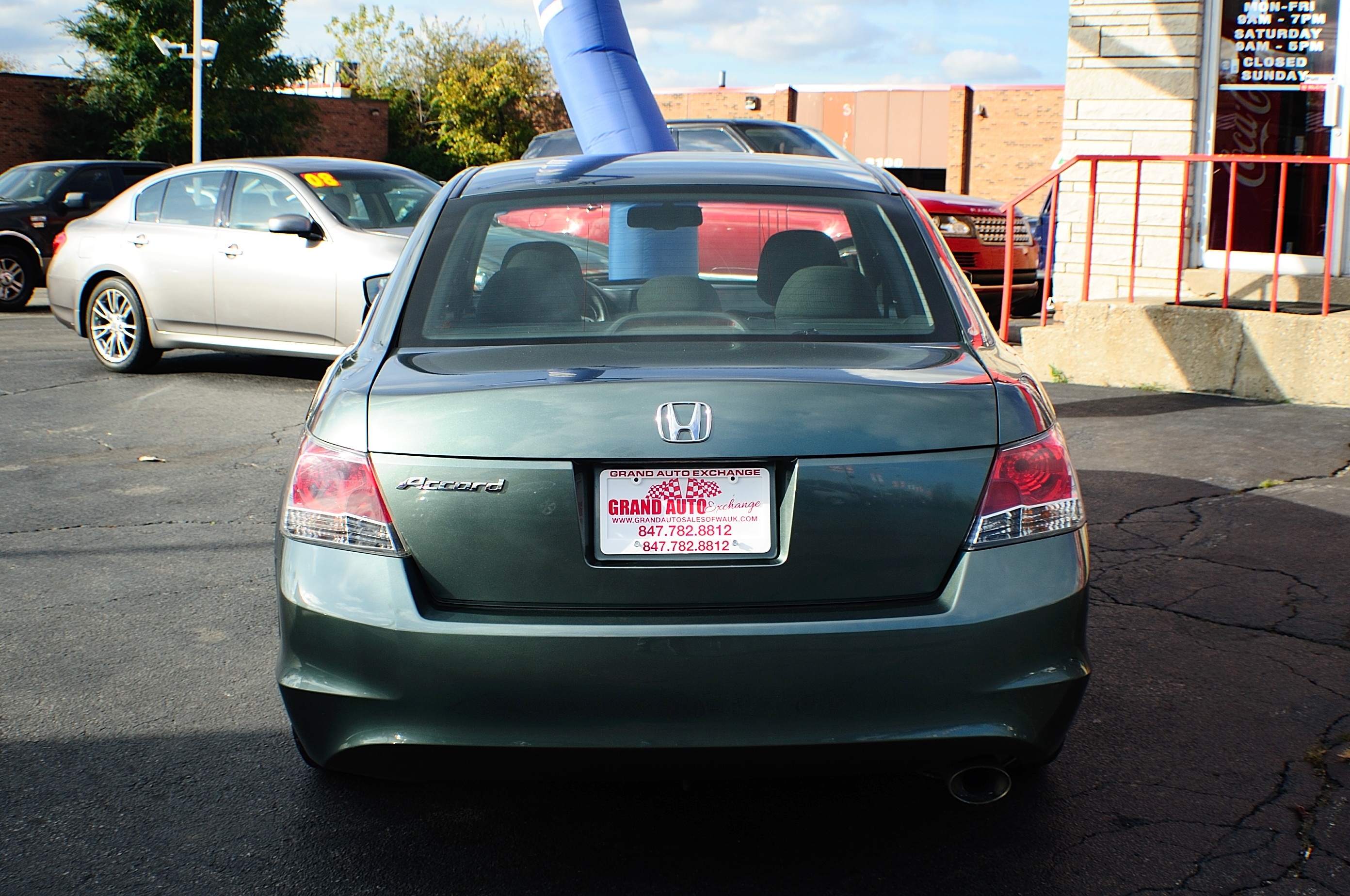 2008 Honda Accord EX Green Sport Sedan Used Car Sale Buffalo Grove Deerfield Fox Lake