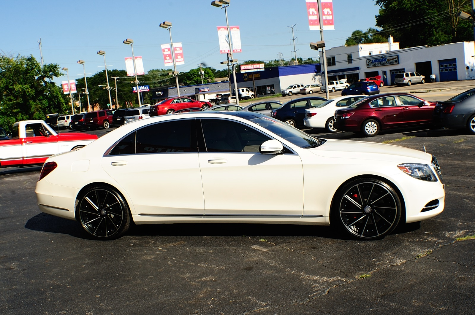 2014 Mercedes Benz S550 4Matic AWD Turbo White Sedan used car Sale Bannockburn Barrington Beach Park