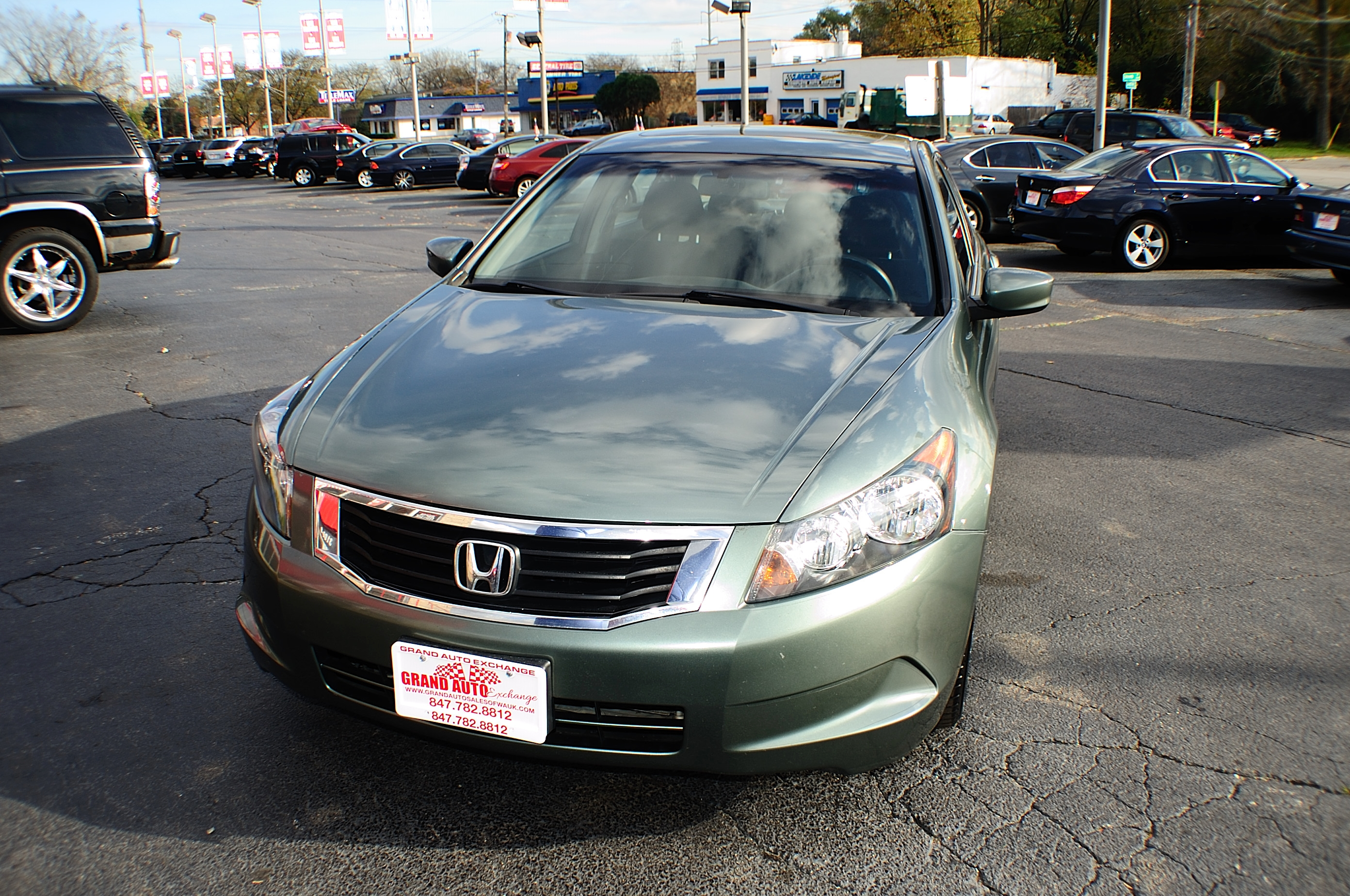 2008 Honda Accord EX Green Sport Sedan Used Car Sale Gurnee Kenosha Mchenry