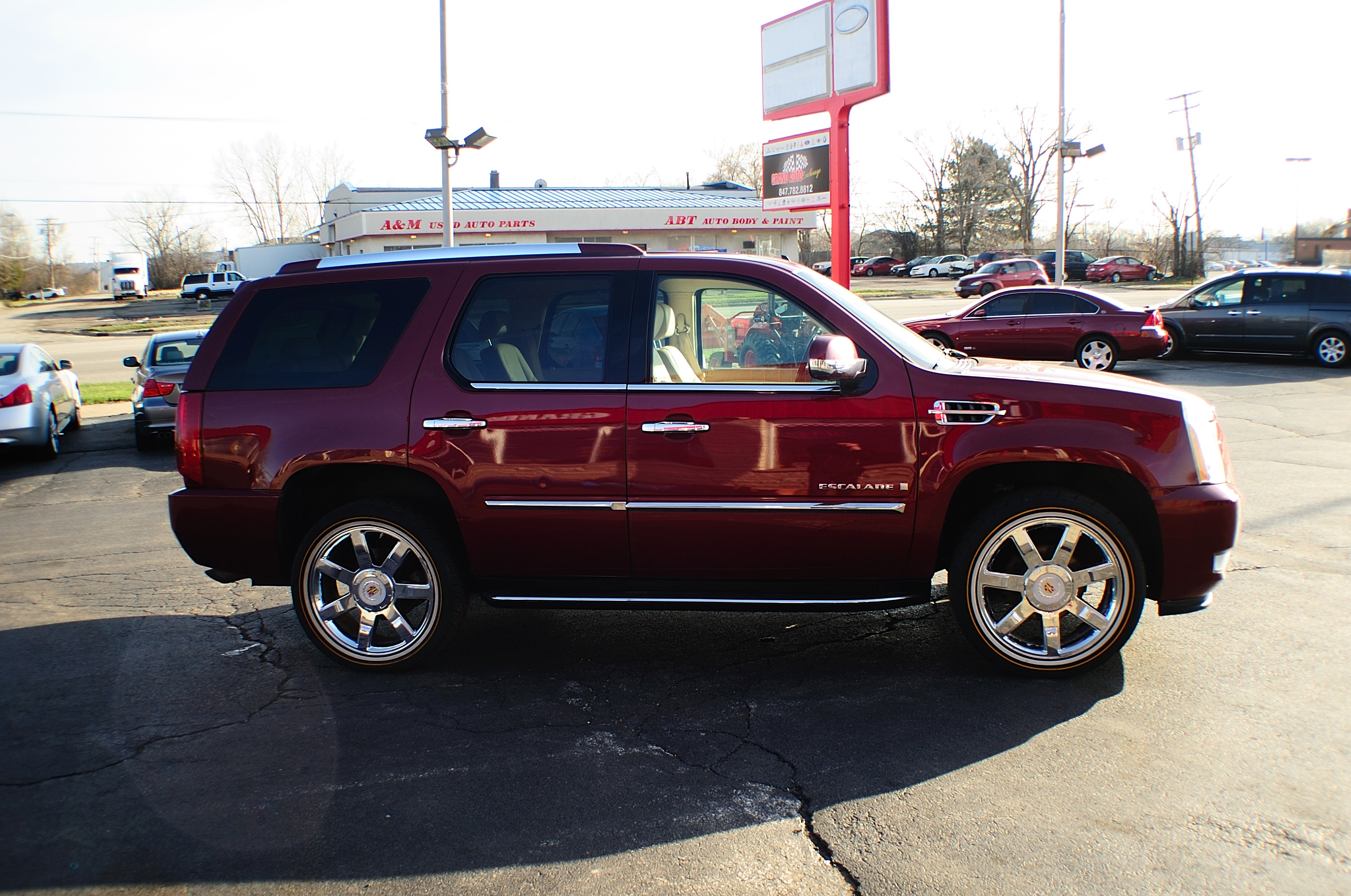 2007 Cadillac Escalade Red 4x4 Used SUV Sale Bannockburn Barrington Beach Park