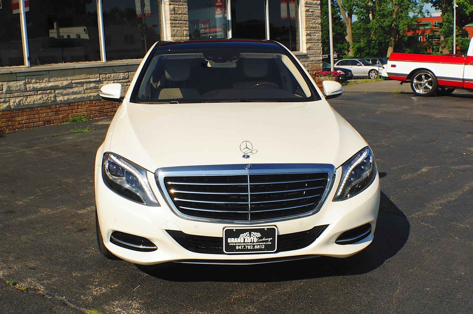 2014 Mercedes Benz S550 4Matic AWD Turbo White Sedan used car Sale Gurnee Kenosha Mchenry Chicago Illinois