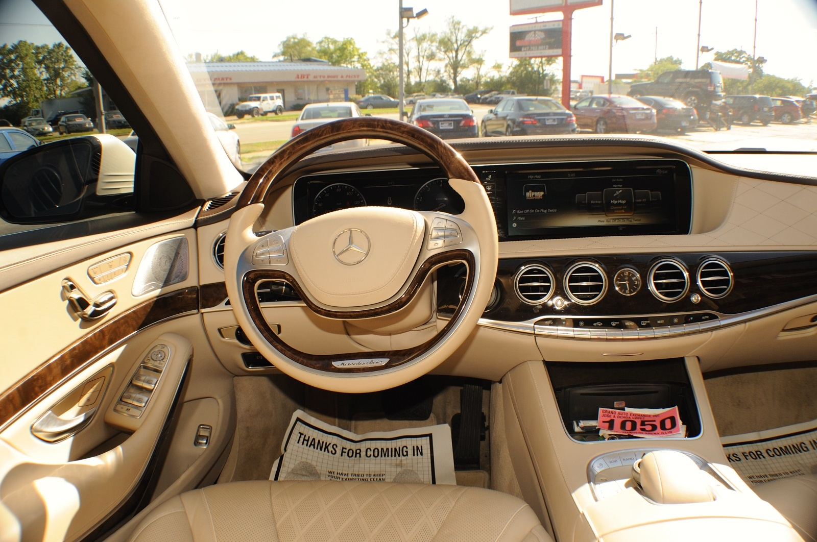 2014 Mercedes Benz S550 4Matic AWD Turbo White Sedan used car Sale Green Oaks Hainesville Hawthorne Woods