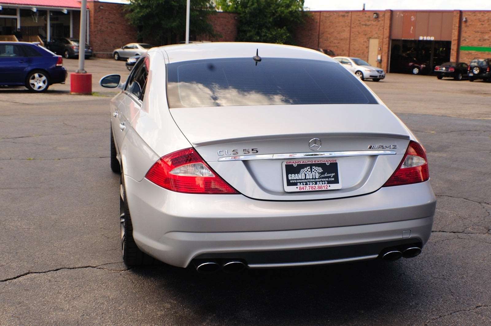 2006 Mercedes Benz CLS 55 AMG Silver Sedan Car Sale Buffalo Grove Deerfield Fox Lake