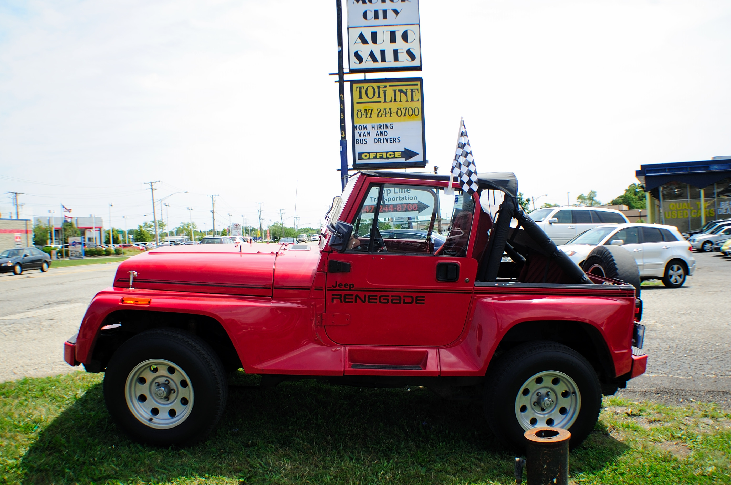 1991 jeep wrangler renegade red 4x4 sale. Black Bedroom Furniture Sets. Home Design Ideas