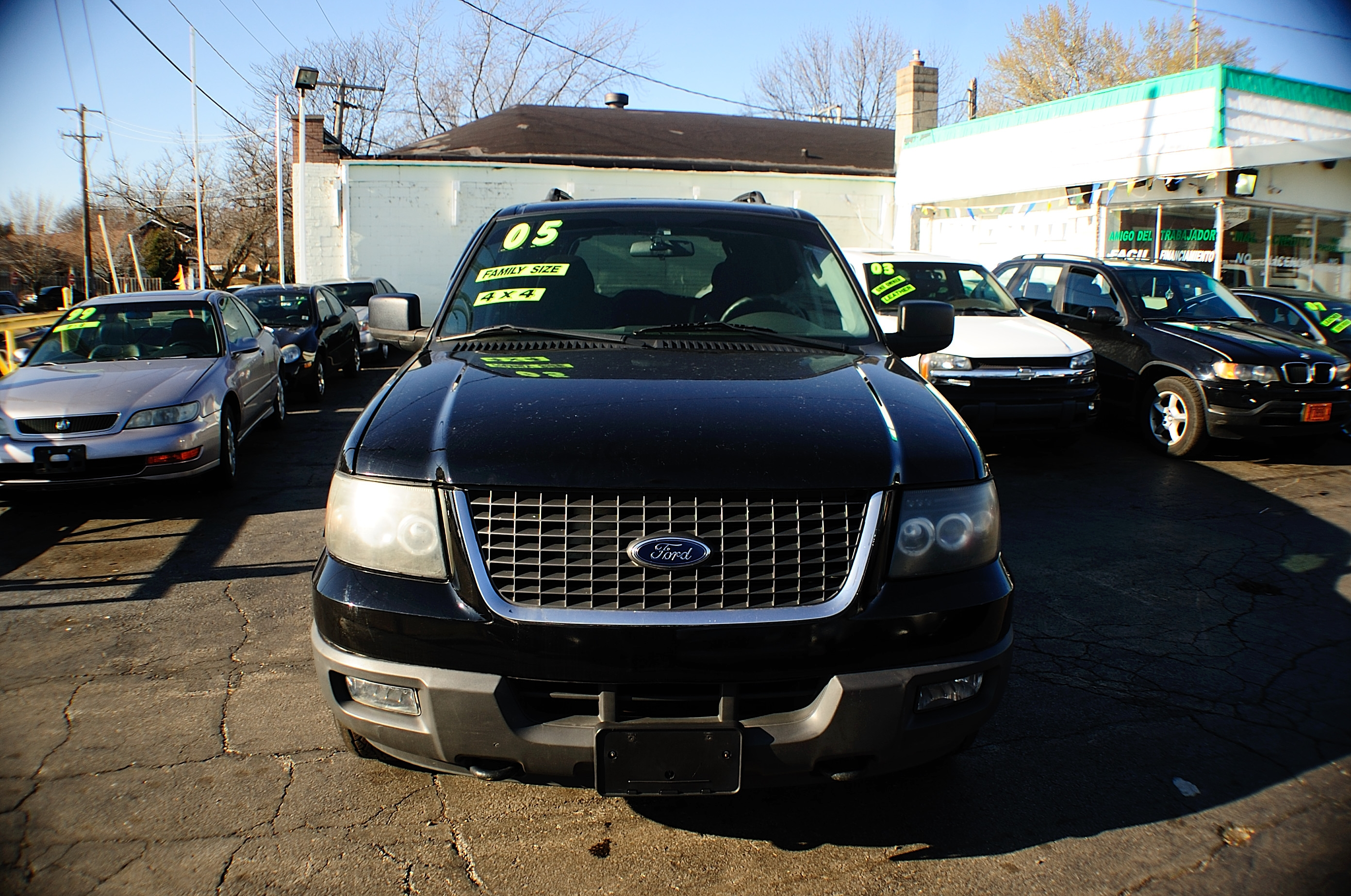 2005 Ford Expedition 4Dr Black 4x4 used SUV sale Gurnee Kenosha Mchenry