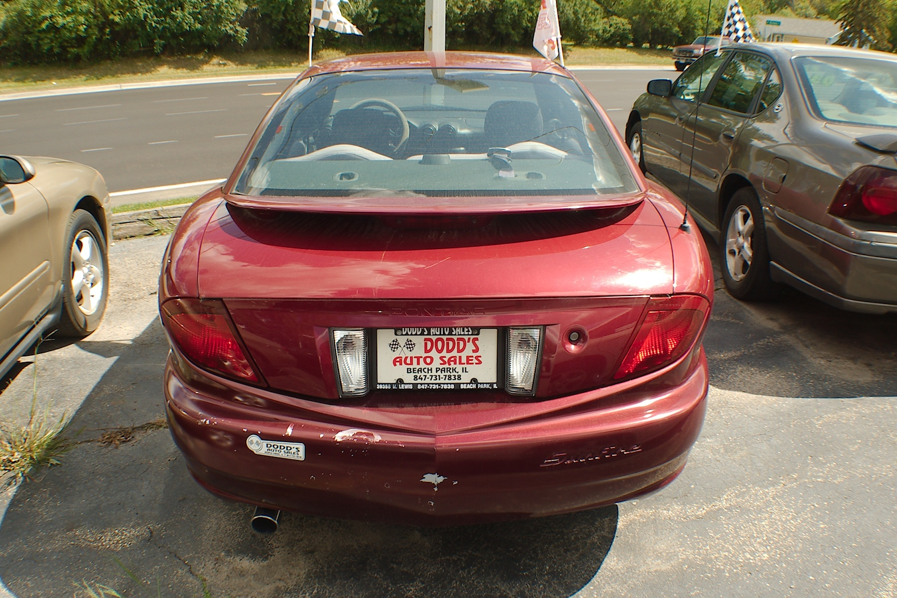 2005 Pontiac Sunfire Burgundy Sedan Used Car Sale Buffalo Grove Deerfield Fox Lake Antioch