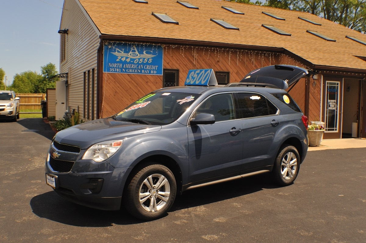 2011 Chevrolet Equinox LT Blue Used SUV Sale Antioch Zion Waukegan Lake County Illinois