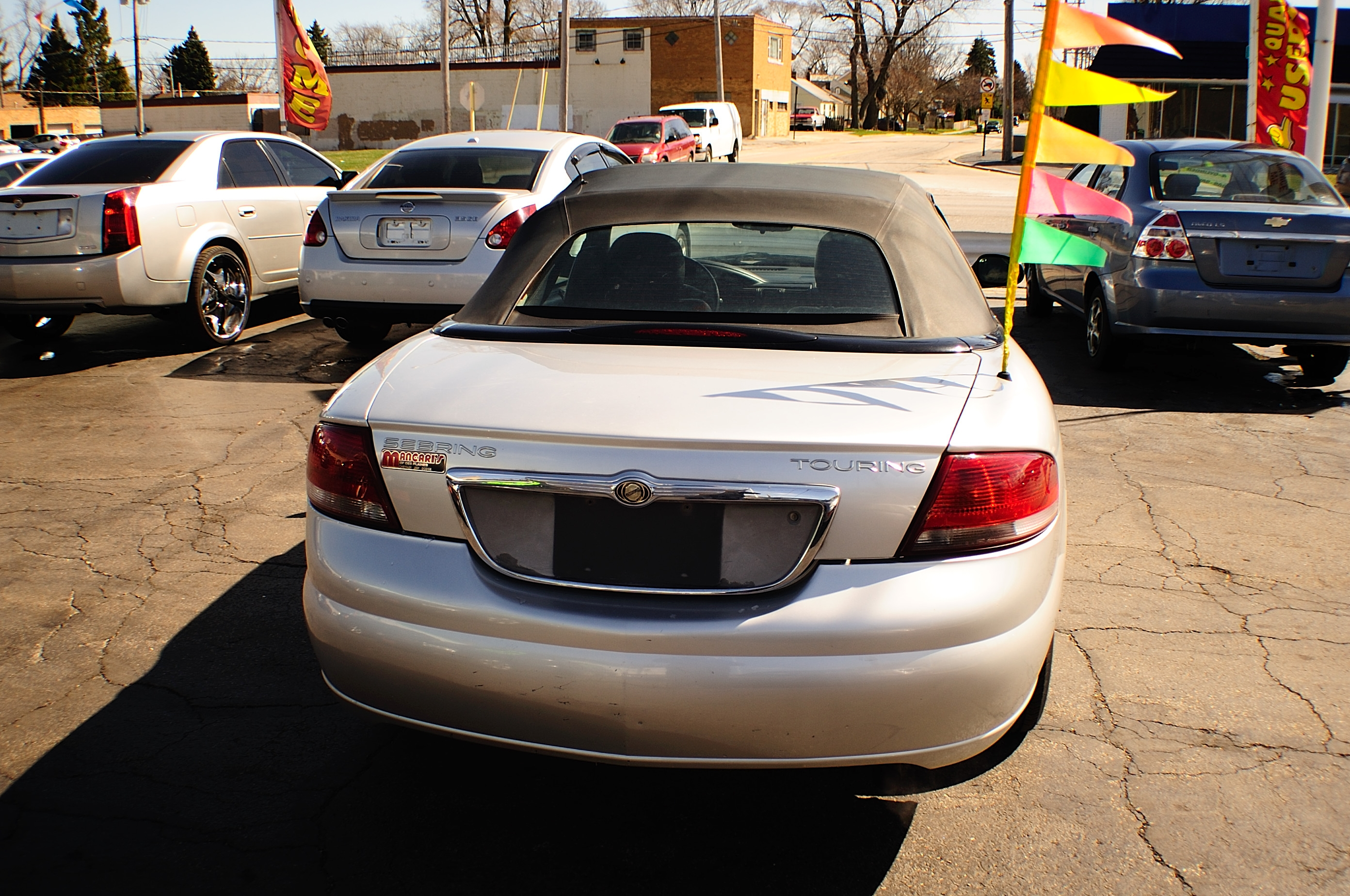 2004 Chrysler Sebring Silver Convertible used car sale Fox Lake Fox River Grove Grayslake