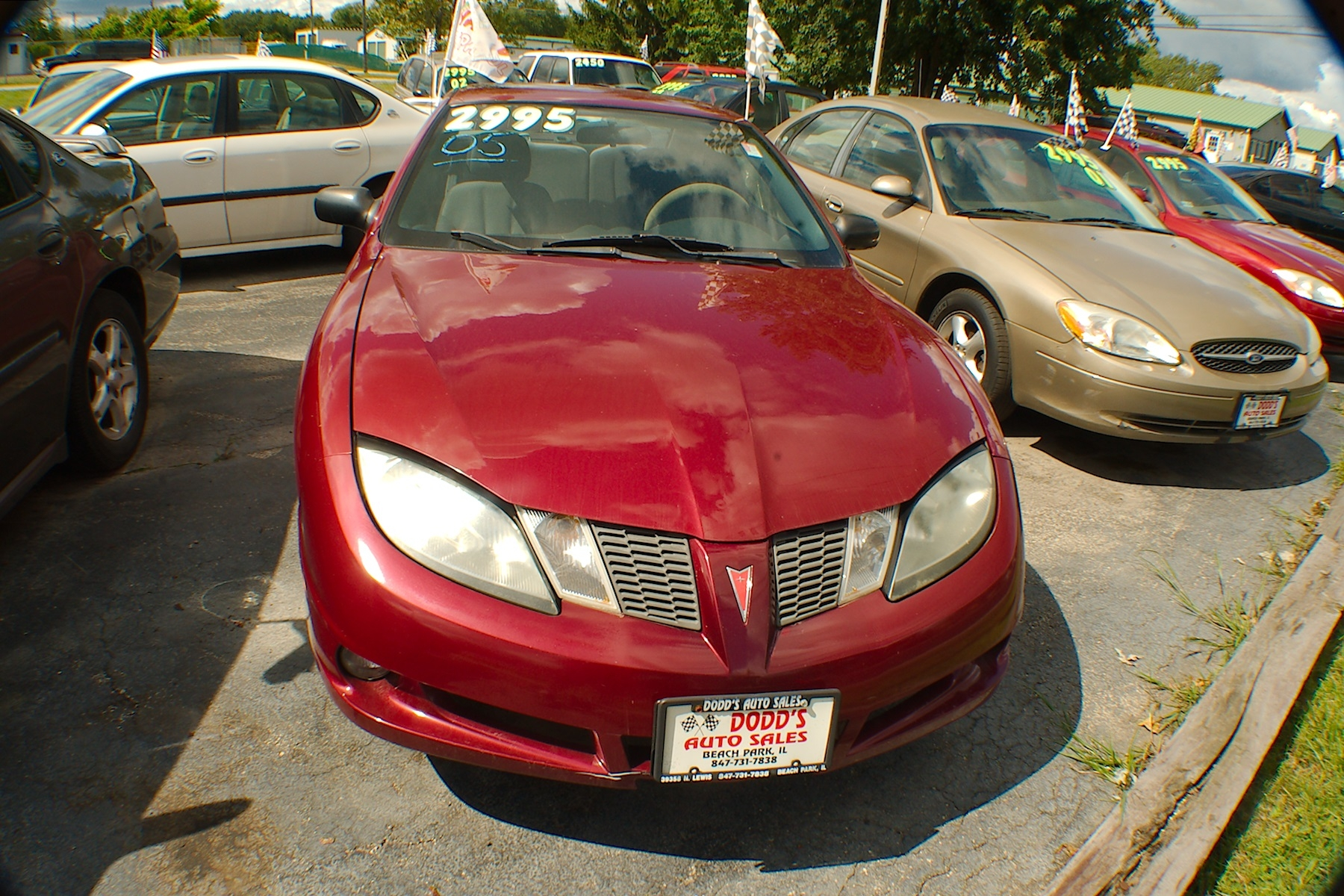 2005 Pontiac Sunfire Burgundy Sedan Used Car Sale Gurnee Kenosha Mchenry Chicago Illinois