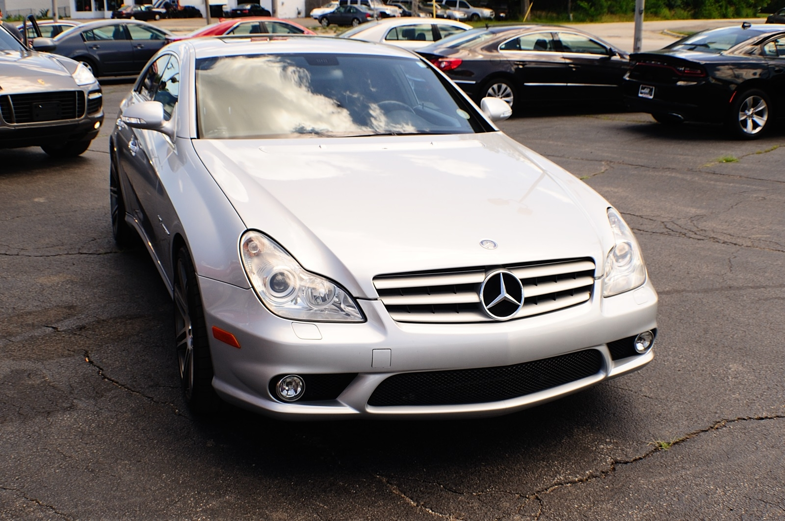 2006 Mercedes Benz CLS 55 AMG Silver Sedan Car Sale Gurnee Kenosha Mchenry Chicago Illinois