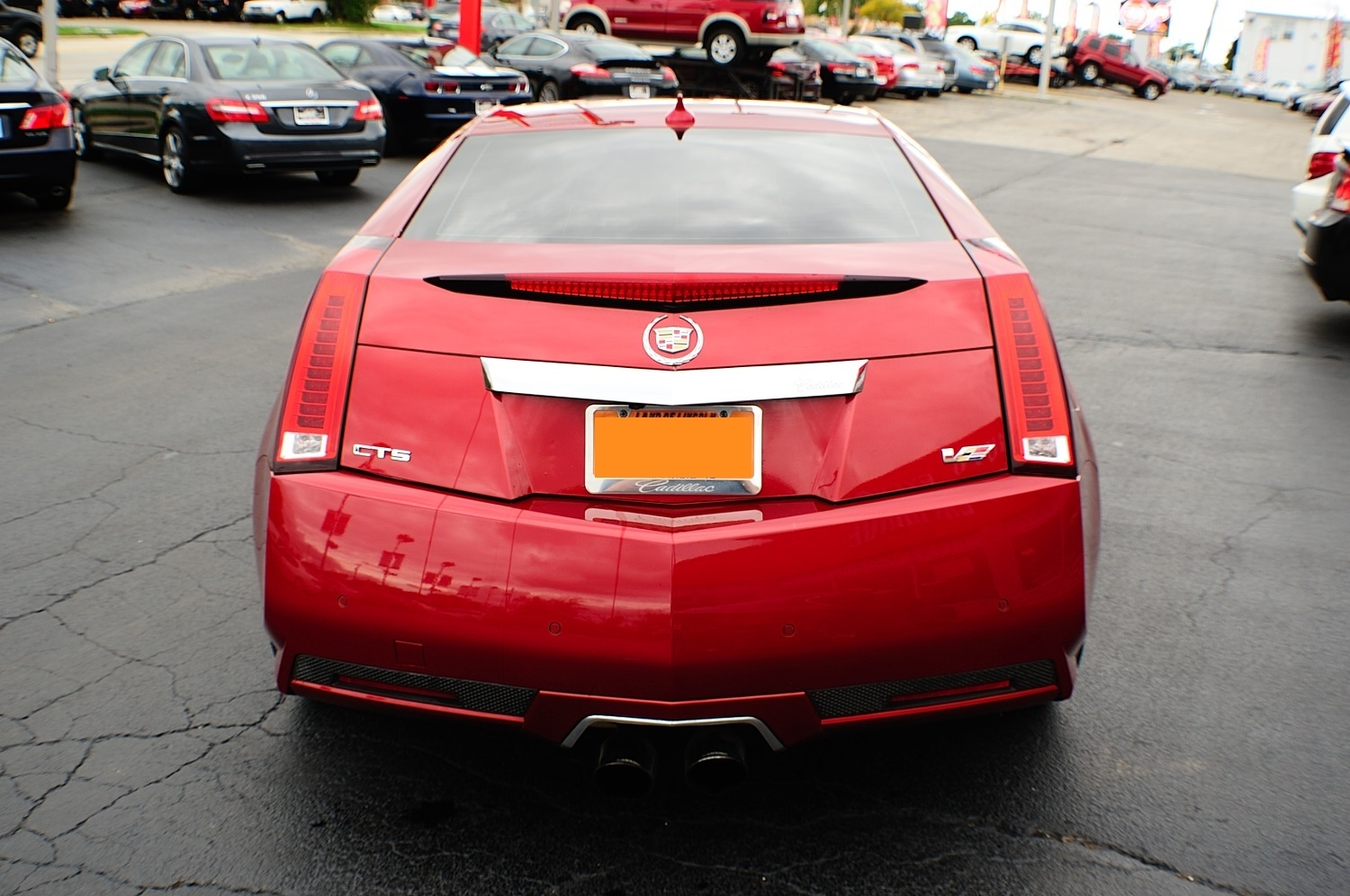 2011 Cadillac CTSV Red Supercharger Used Coupe Sale Buffalo Grove Deerfield Fox Lake