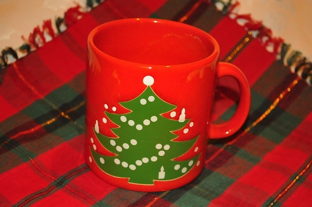 WAECHTERSBACH MUG Red Christmas Tree Holiday Coffee Cup