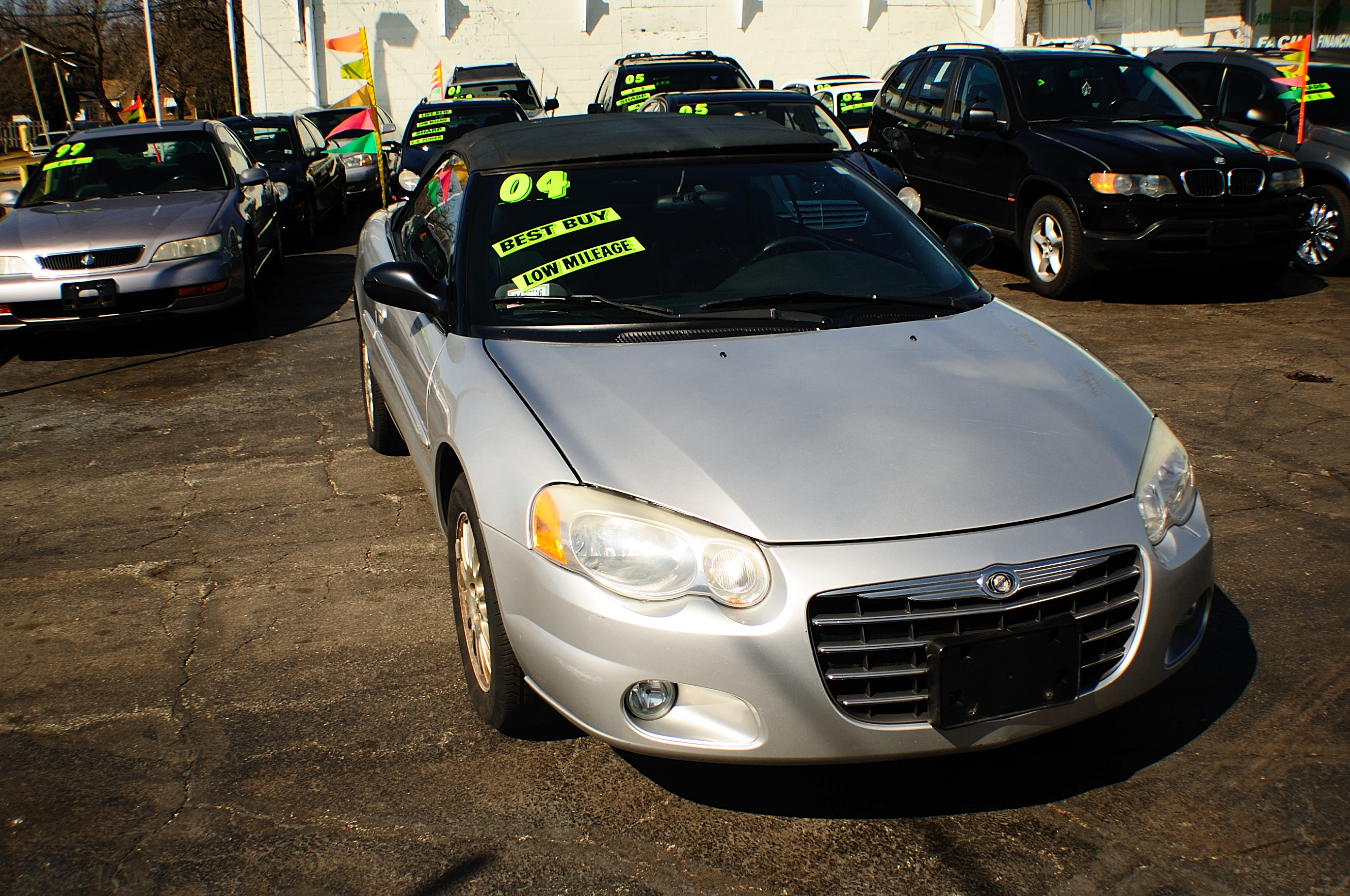 2004 Chrysler Sebring Silver Convertible used car sale Kenosha Mchenry Bannockburn Barrington