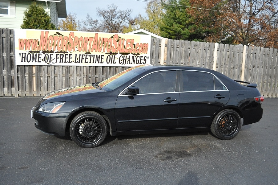 Honda Dealers Illinois >> 2005 Honda Accord EX Black Sedan Car Sale
