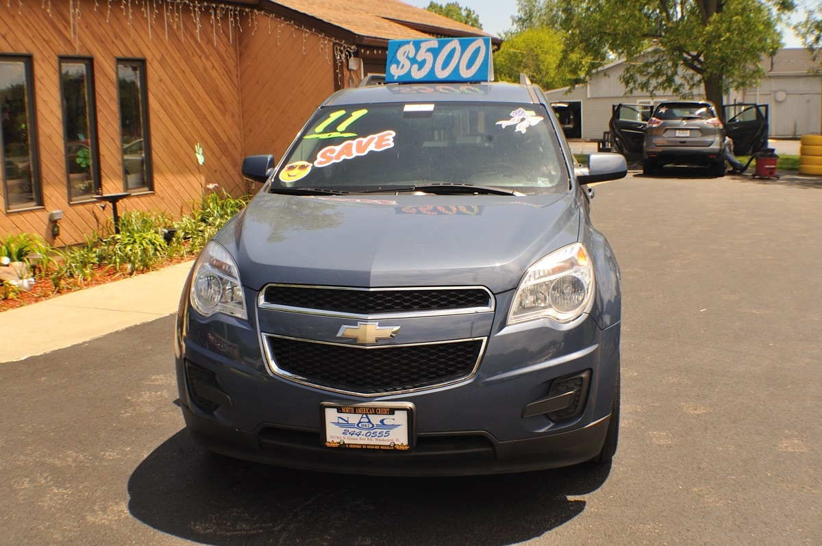 2011 Chevrolet Equinox LT Blue Used SUV Sale Gurnee Kenosha Mchenry Chicago Illinois