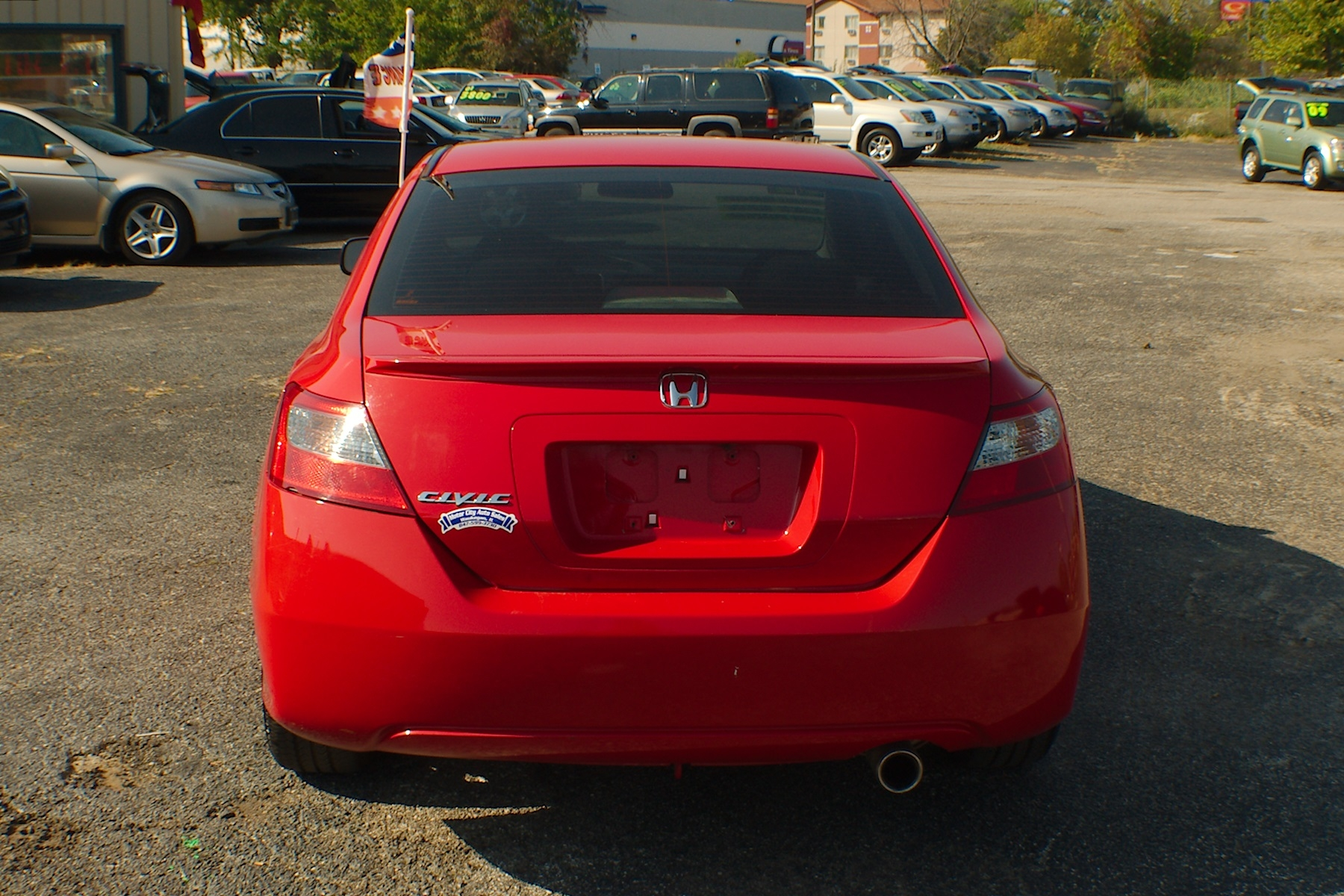 2011 honda civic red sport coupe used car sale. Black Bedroom Furniture Sets. Home Design Ideas