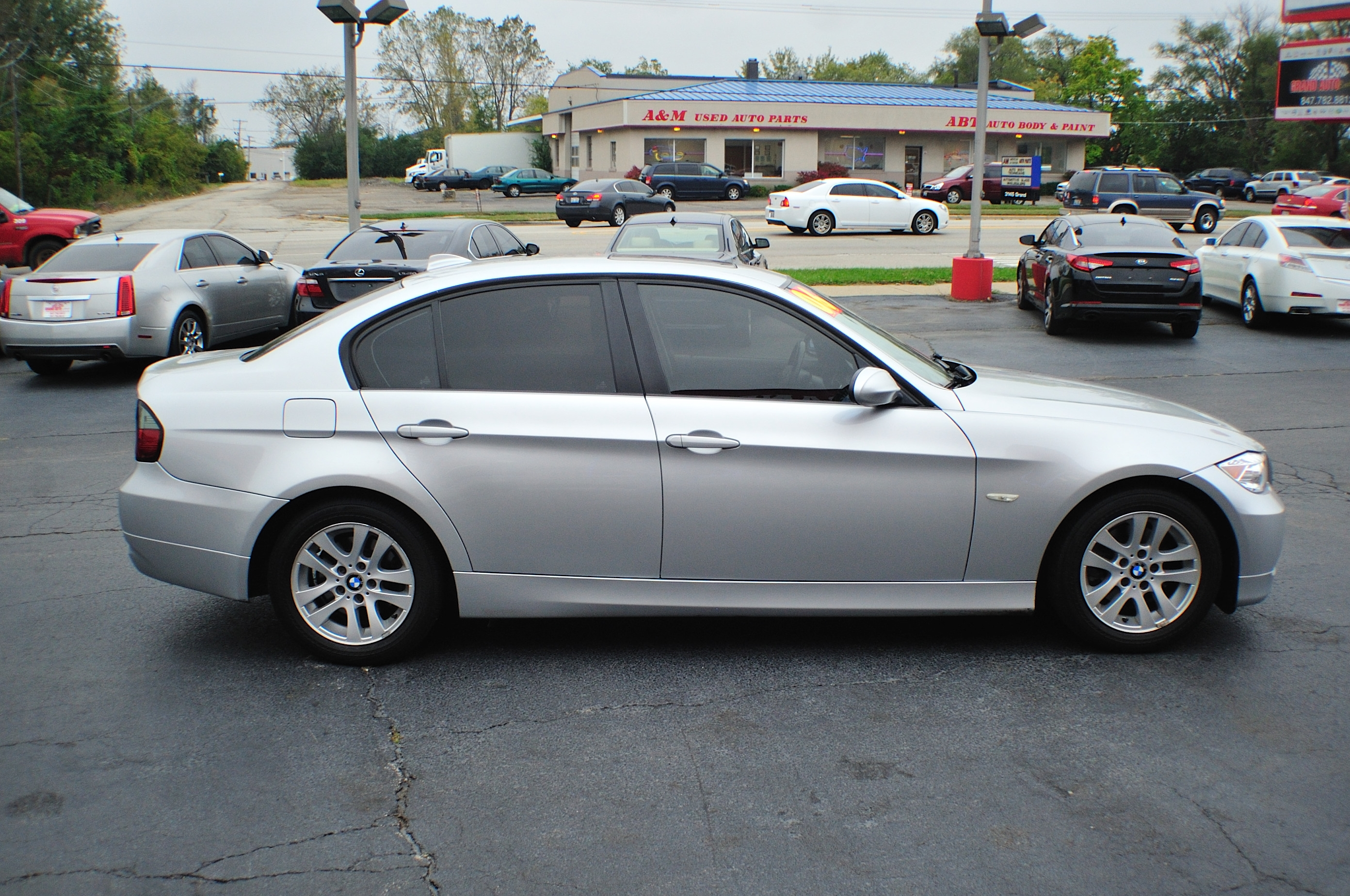 2006 bmw 325i silver used sport sedan car sale bannockburn barrington beach park