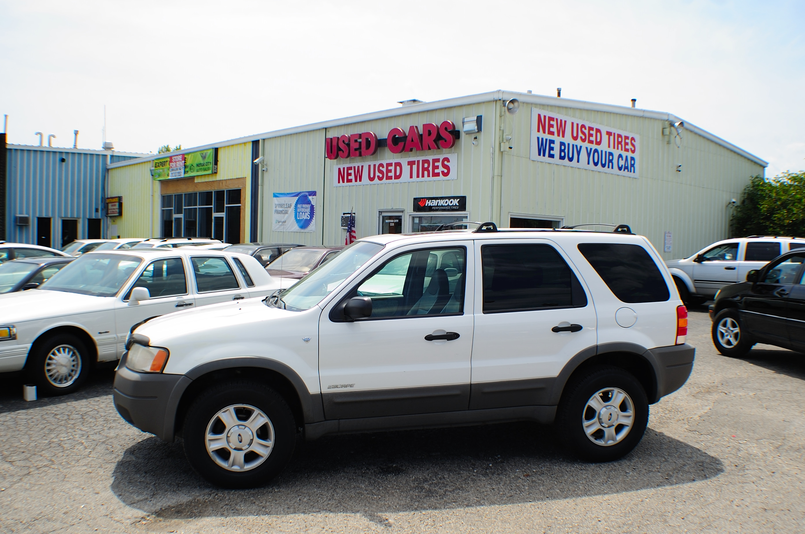 2001 Ford Escape XLT White 4x4 SUV Used Car Sale Antioch Grayslake