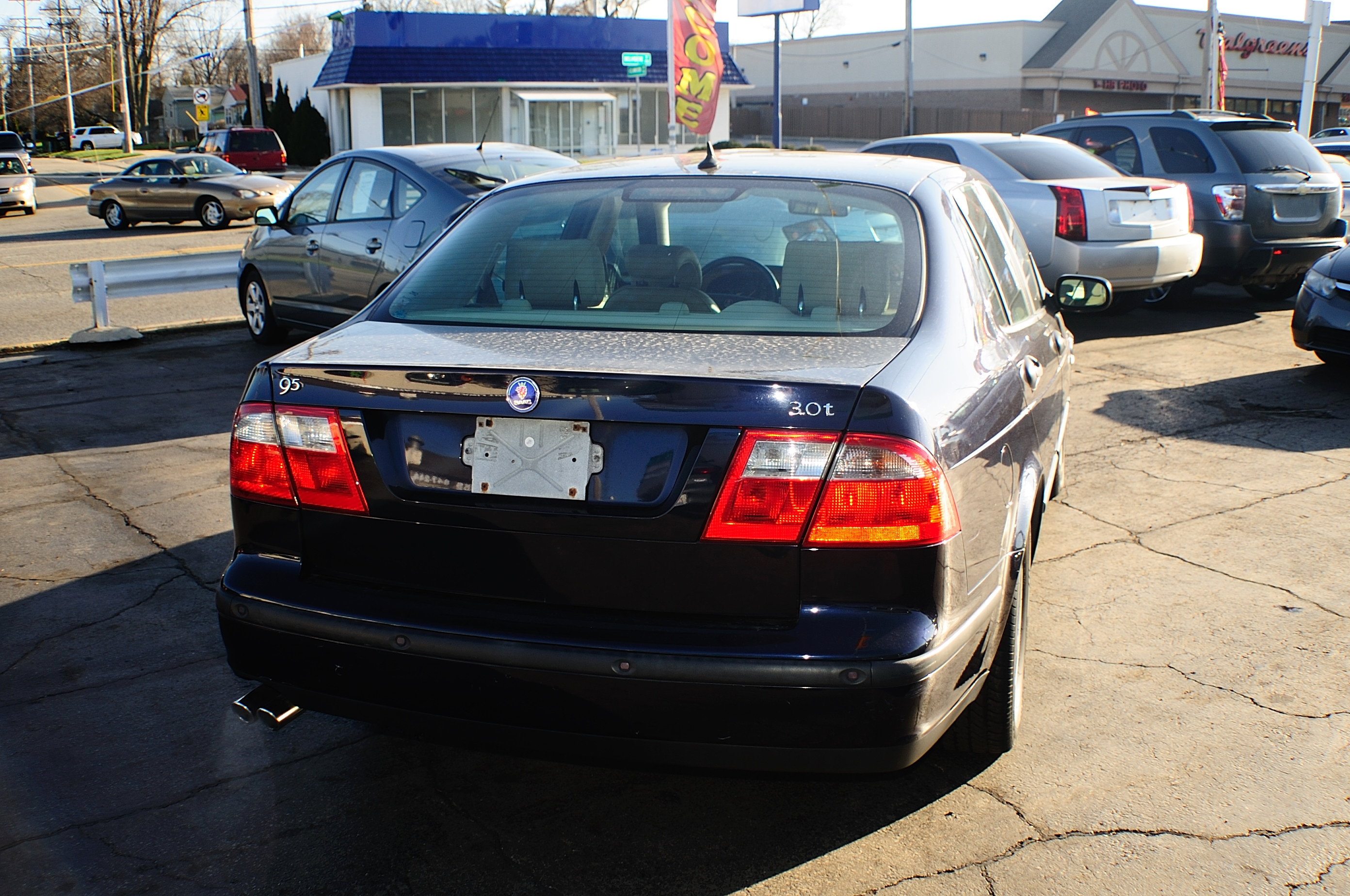 2003 Saab 4Dr blue sedan sale used car Buffalo Grove Deerfield Fox Lake